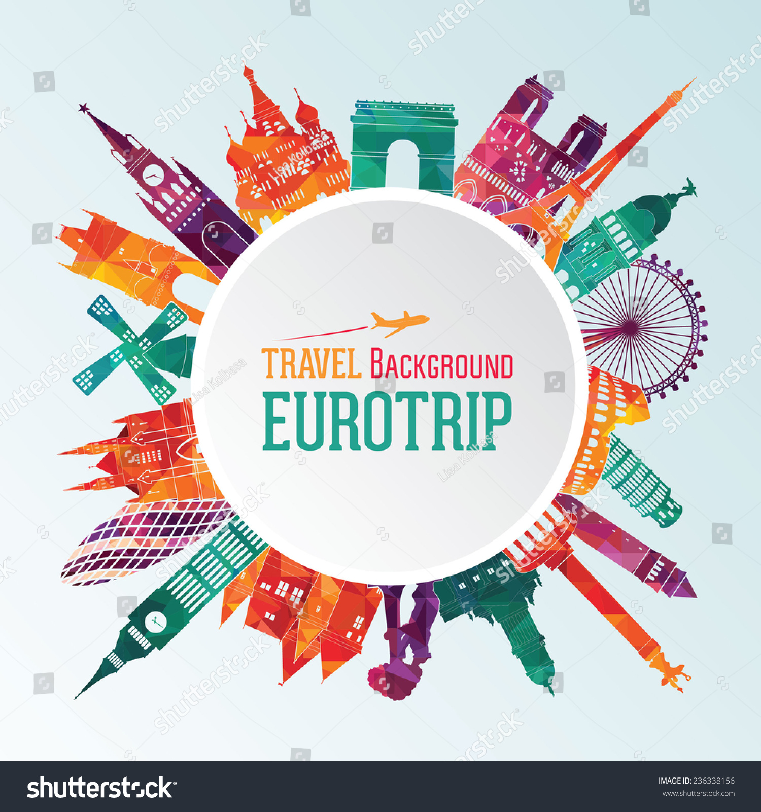 vector illustration of europe - photo #42