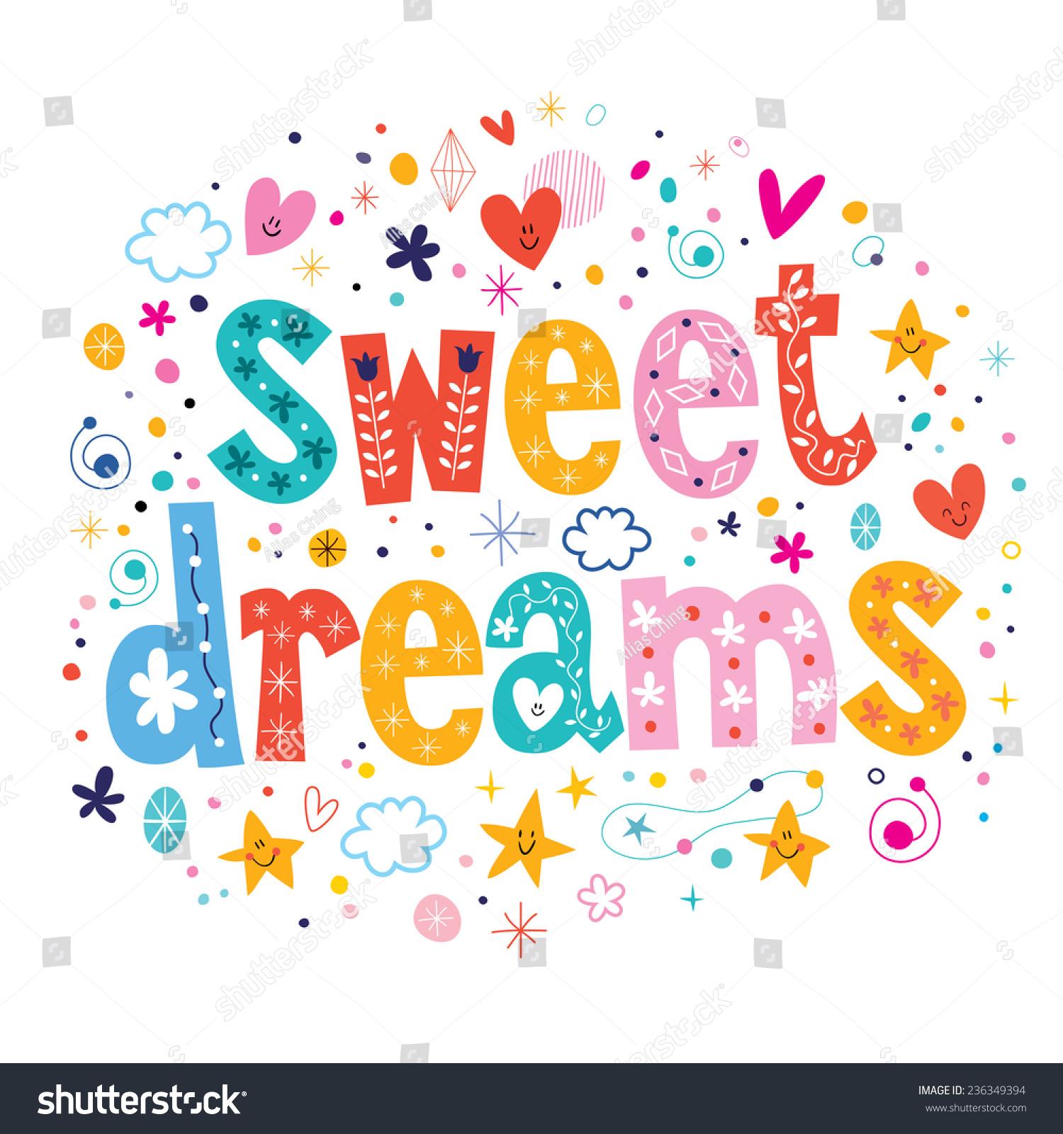 Sweet Dreams Stock Vector 236349394 - Shutterstock