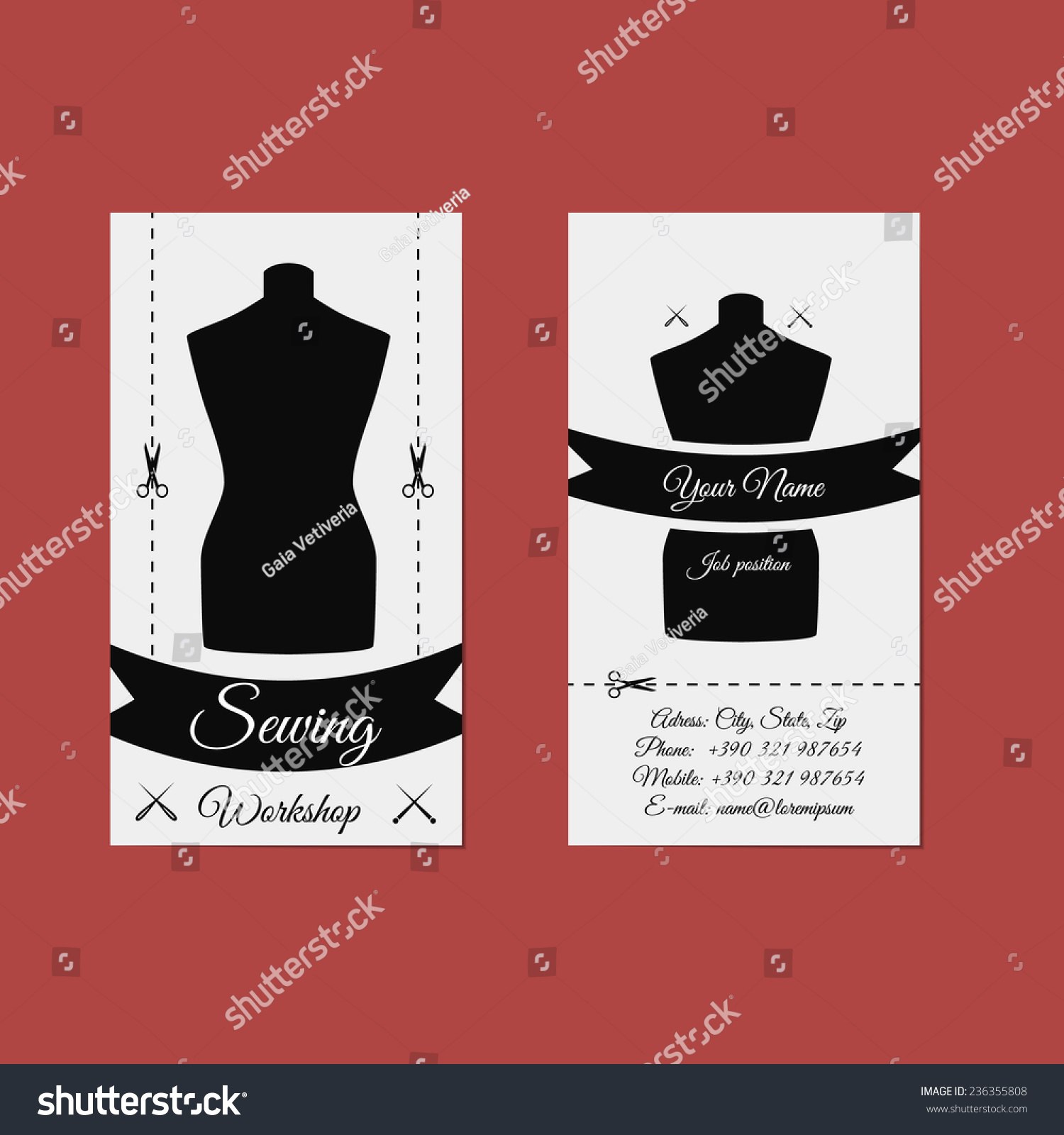 Excellent Seamstress Business Cards Photos - Business Card Ideas ...