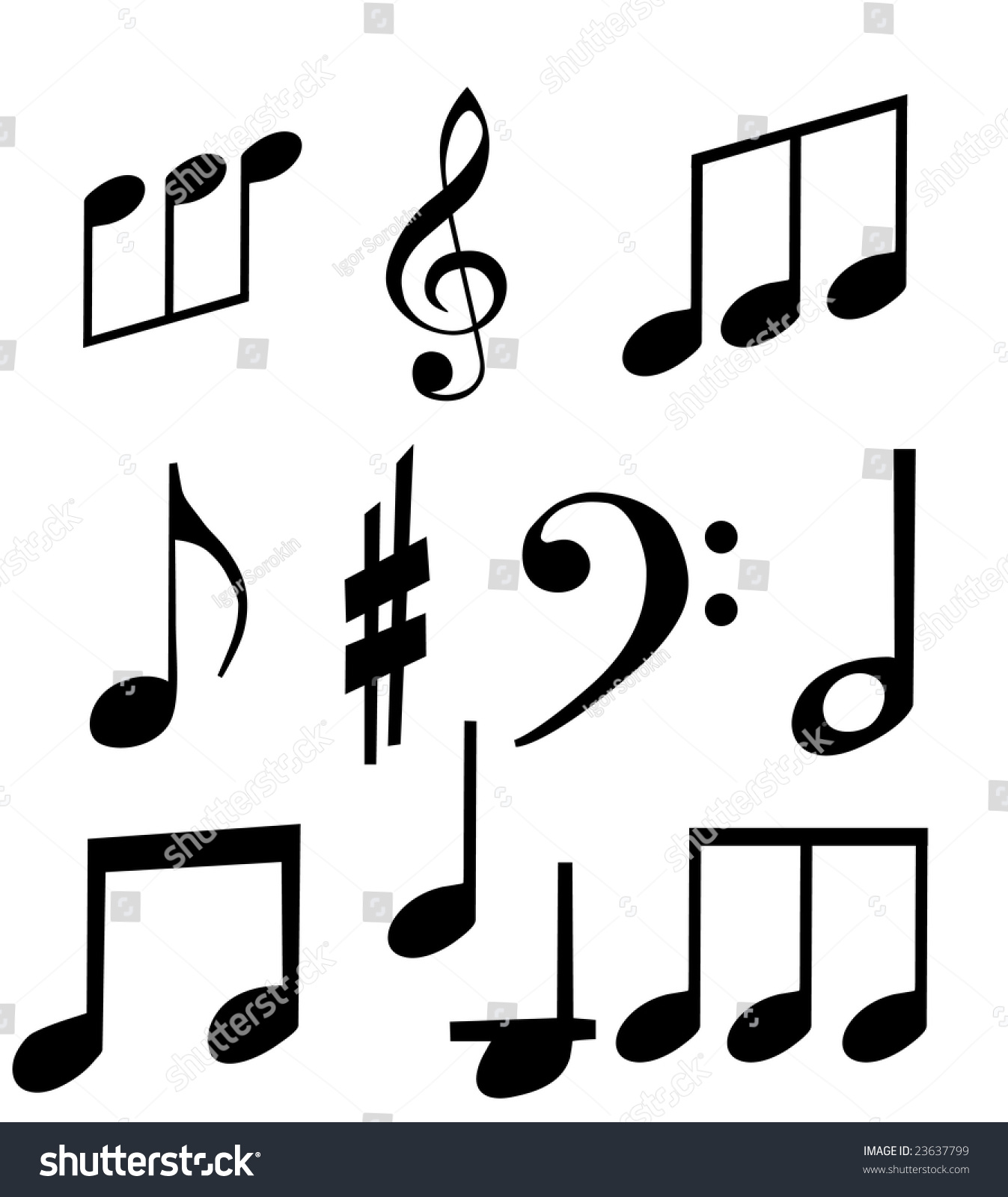 Music note isolated set musical symbols stock illustration music note isolated set of musical symbols on a white background music detail for biocorpaavc Images