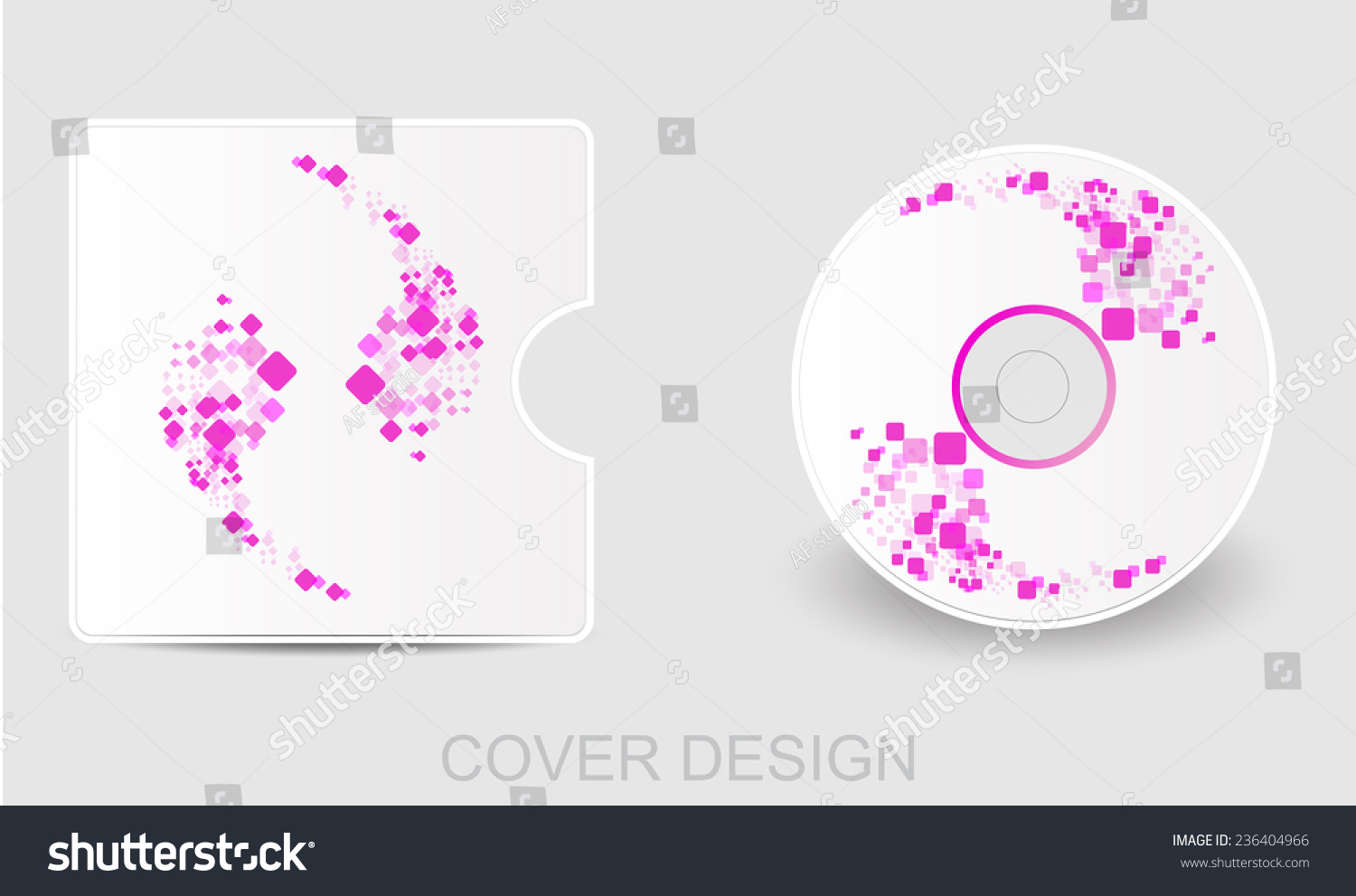 Cd Dvd Bluray White Cover Design Stock Illustration 236404966