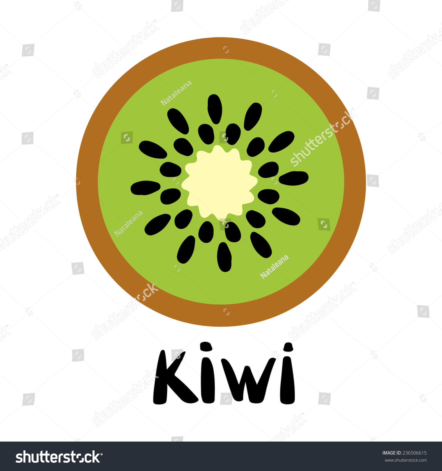 Kiwi Slice Vector kiwi...