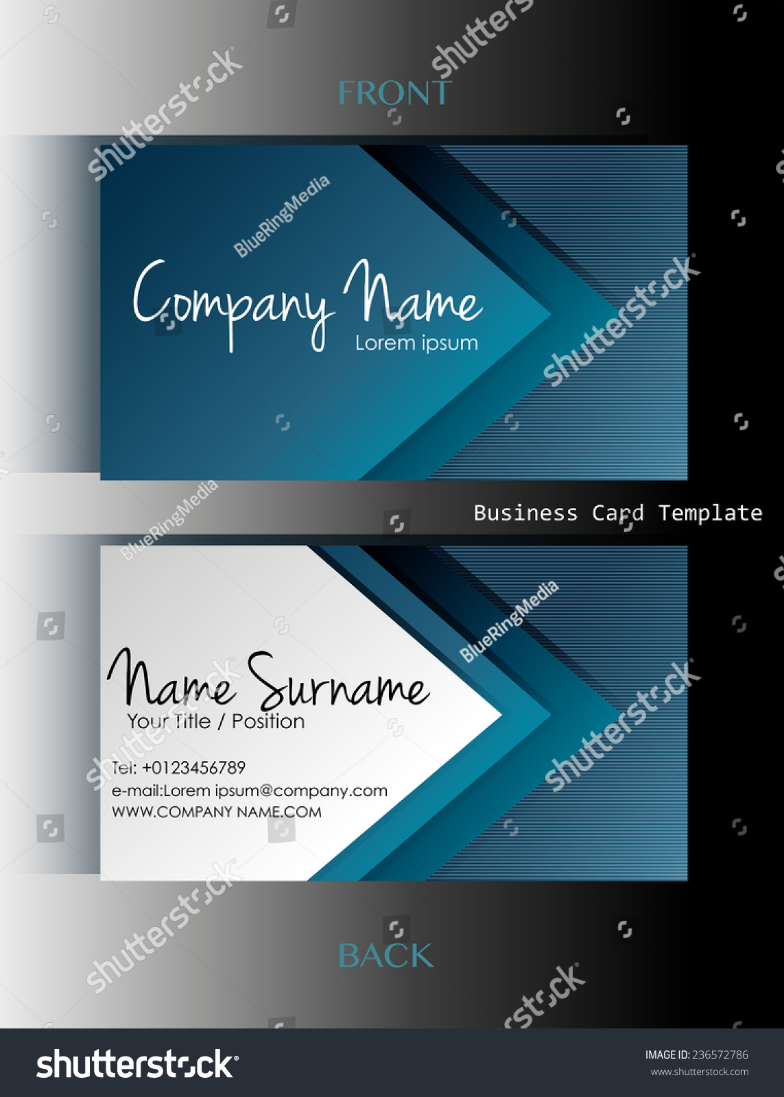 Back business card images free business cards front back business card template stock vector 236572786 a front and back business card template magicingreecefo magicingreecefo Images