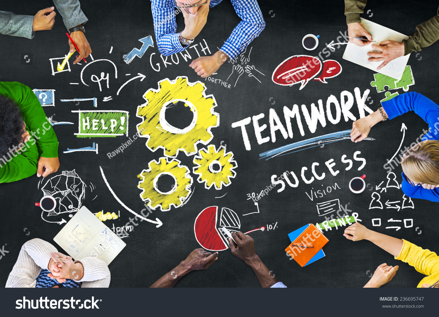 Collaborative Teaching Concepts ~ Teamwork team together collaboration people education
