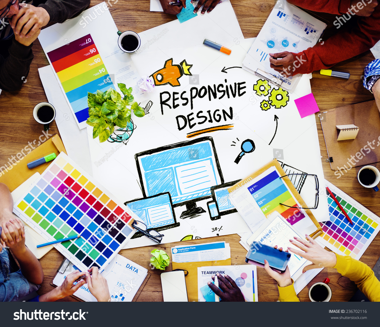 Responsive Design Internet Web Graphic Design Stock Photo ...