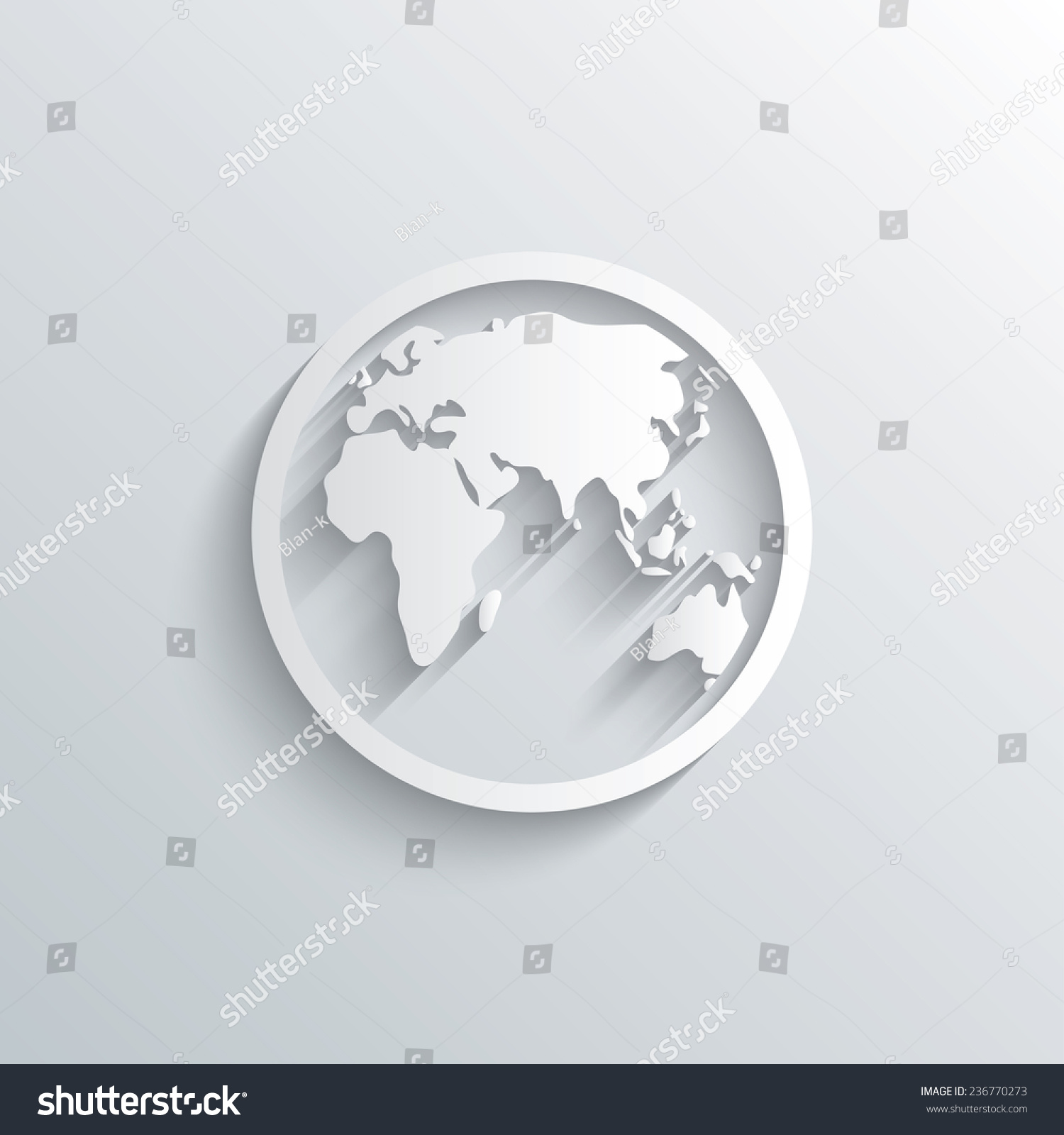 Cutout paper background globe sign icon stock vector 236770273 cutout paper background globe sign icon stock vector 236770273 shutterstock gumiabroncs Images