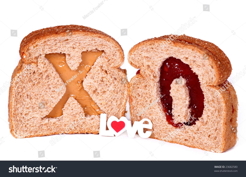 Peanut Butter And Jam Hearts Recipe — Dishmaps
