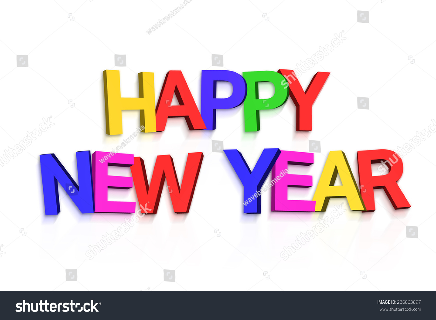 New Year Greeting Colourful Letters On Stock Illustration