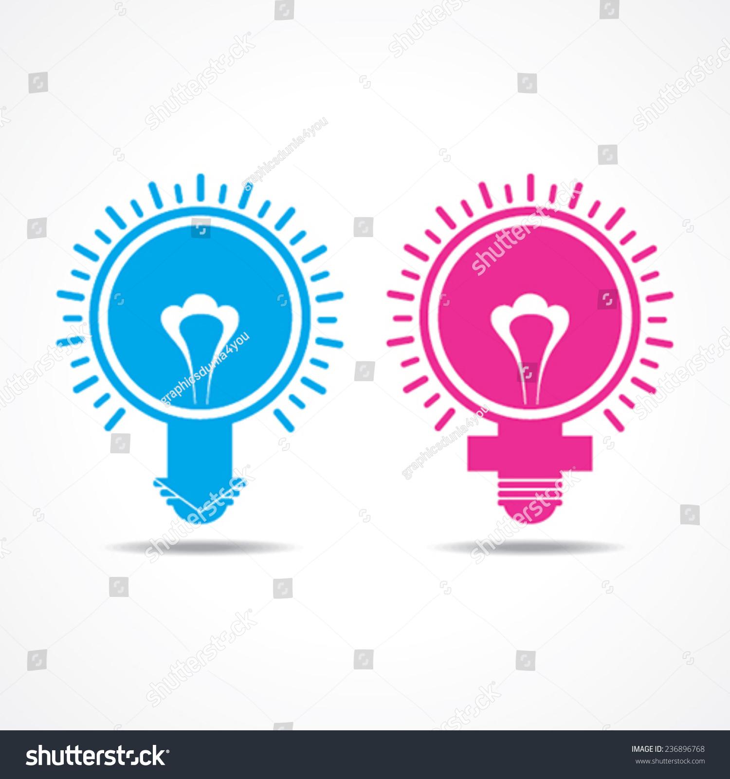 Male Female Symbol Make Light Bulb Stock Vector Royalty Free