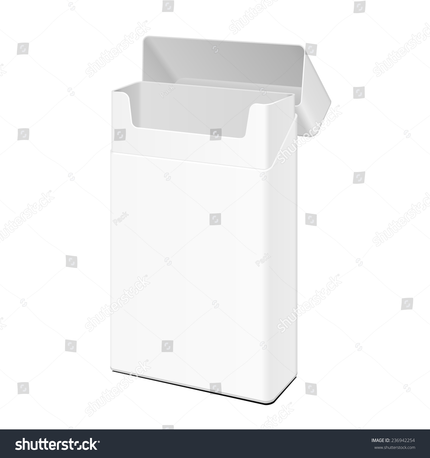 opened blank white slim cigarettes pack stock vector royalty free