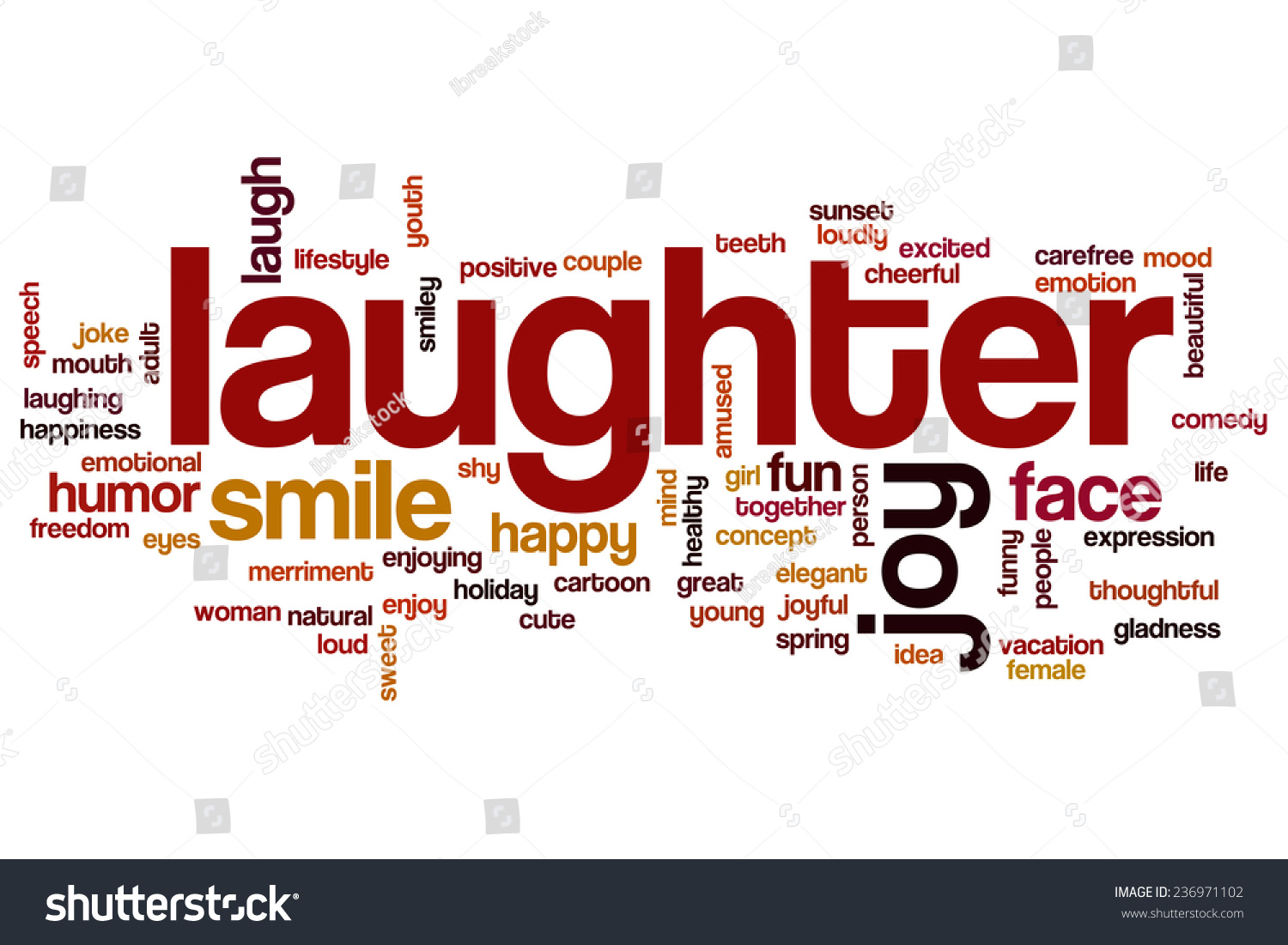 Laughter Word Cloud Concept Stock Photo 236971102 ...