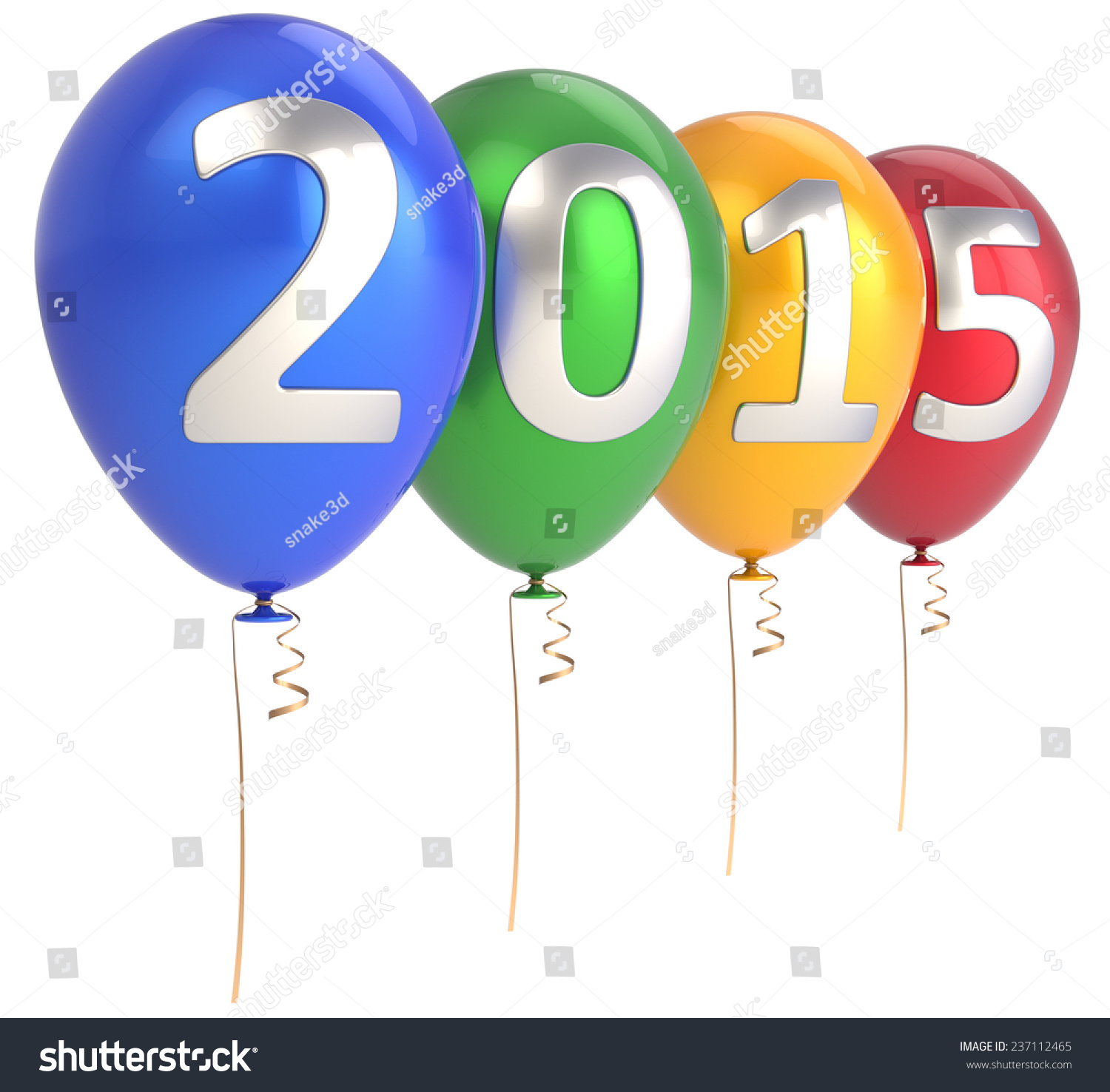 happy new year 2015 balloons party decoration celebrate helium balloon colorful future beginning calendar