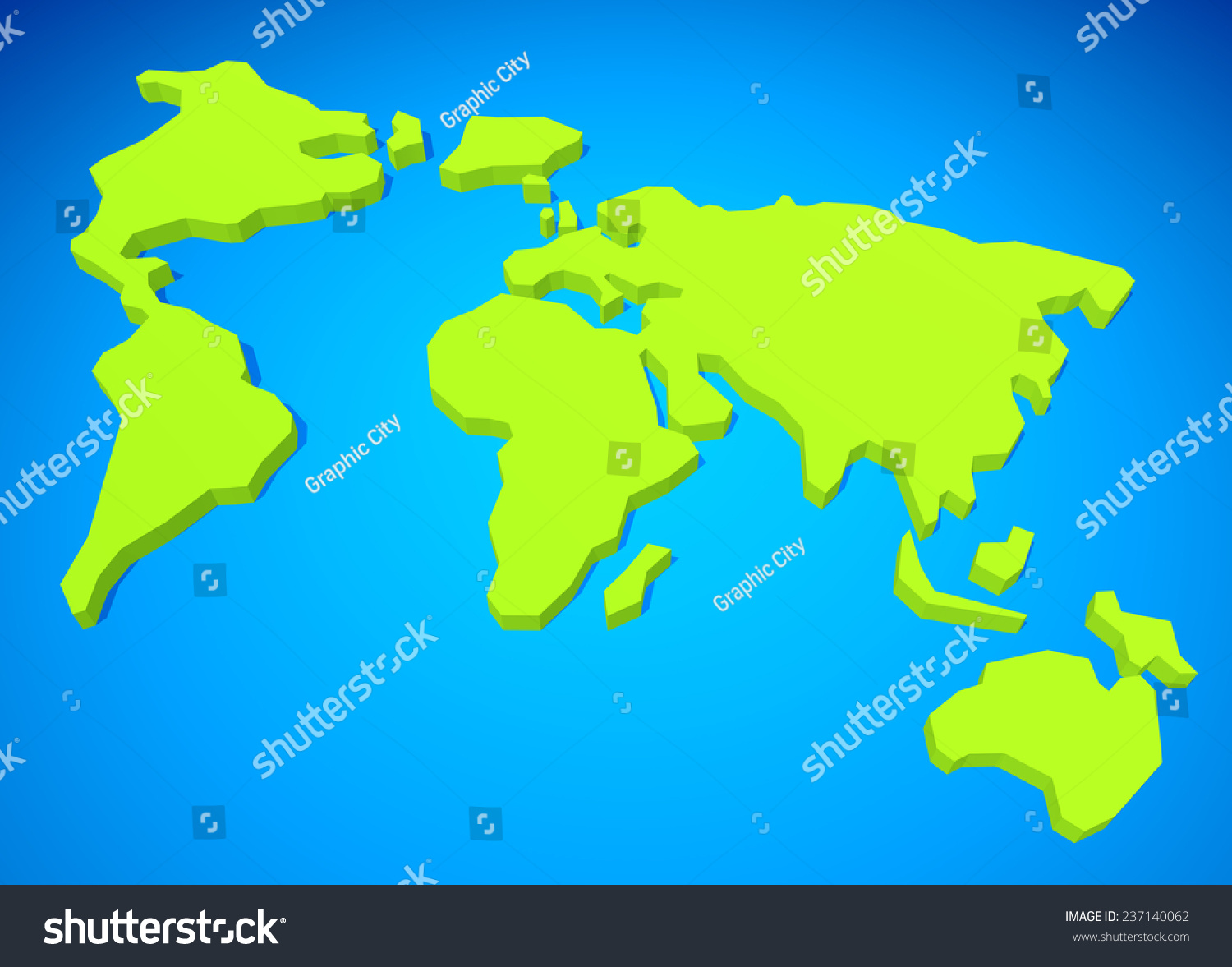3D Simple World Map
