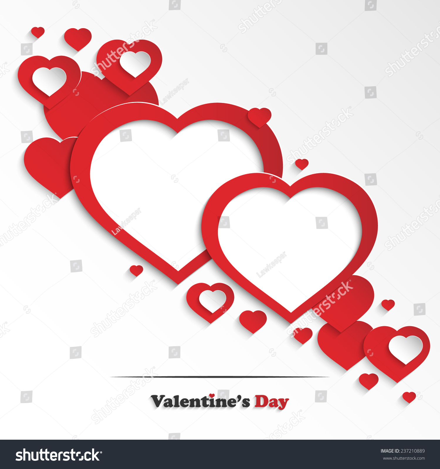 Abstract Valentines Day Greeting Card Paper Stock Vector (Royalty ...