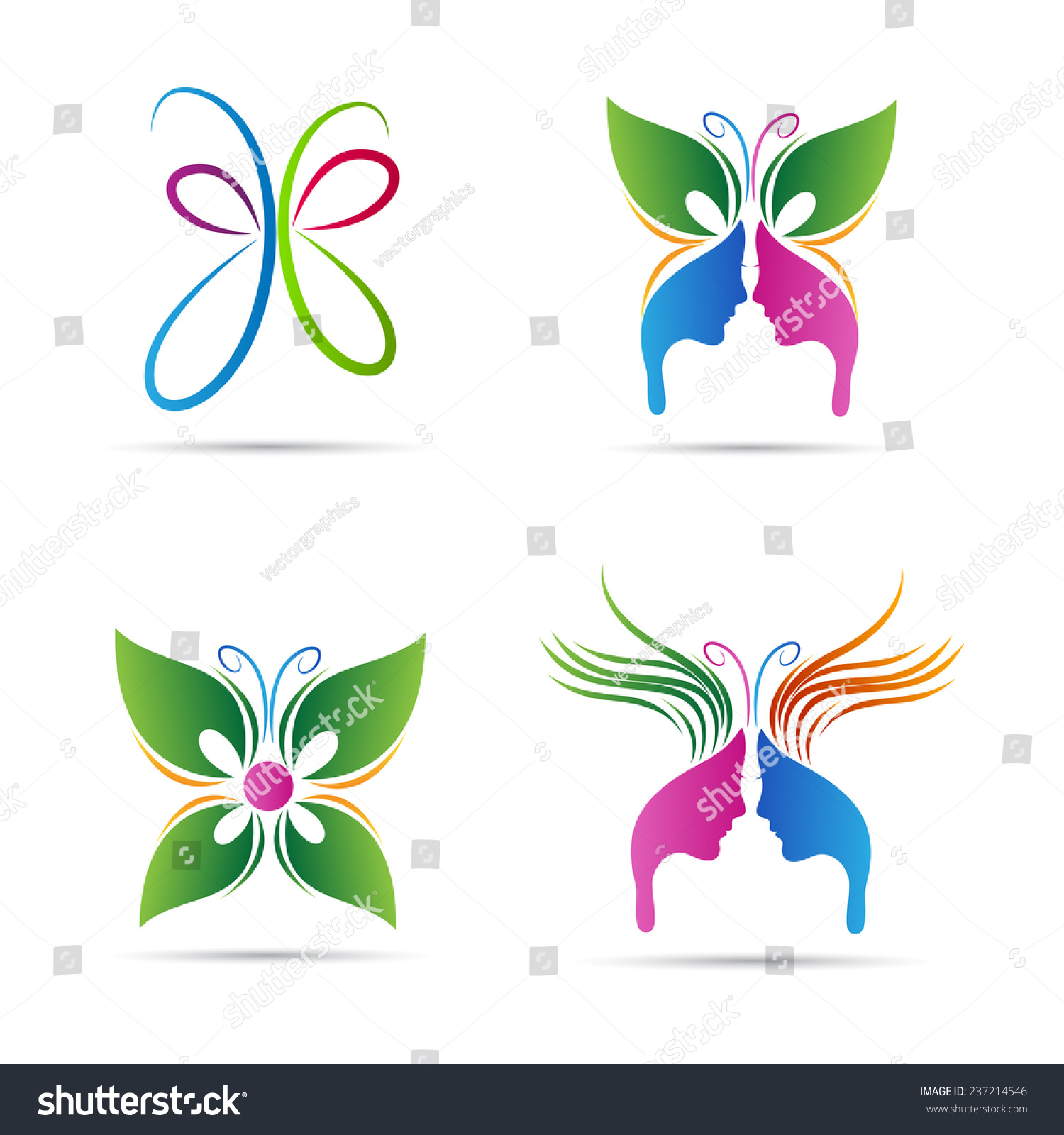 Abstract Beauty Salon Of Abstract Butterfly Vector Design Represents Beauty Stock