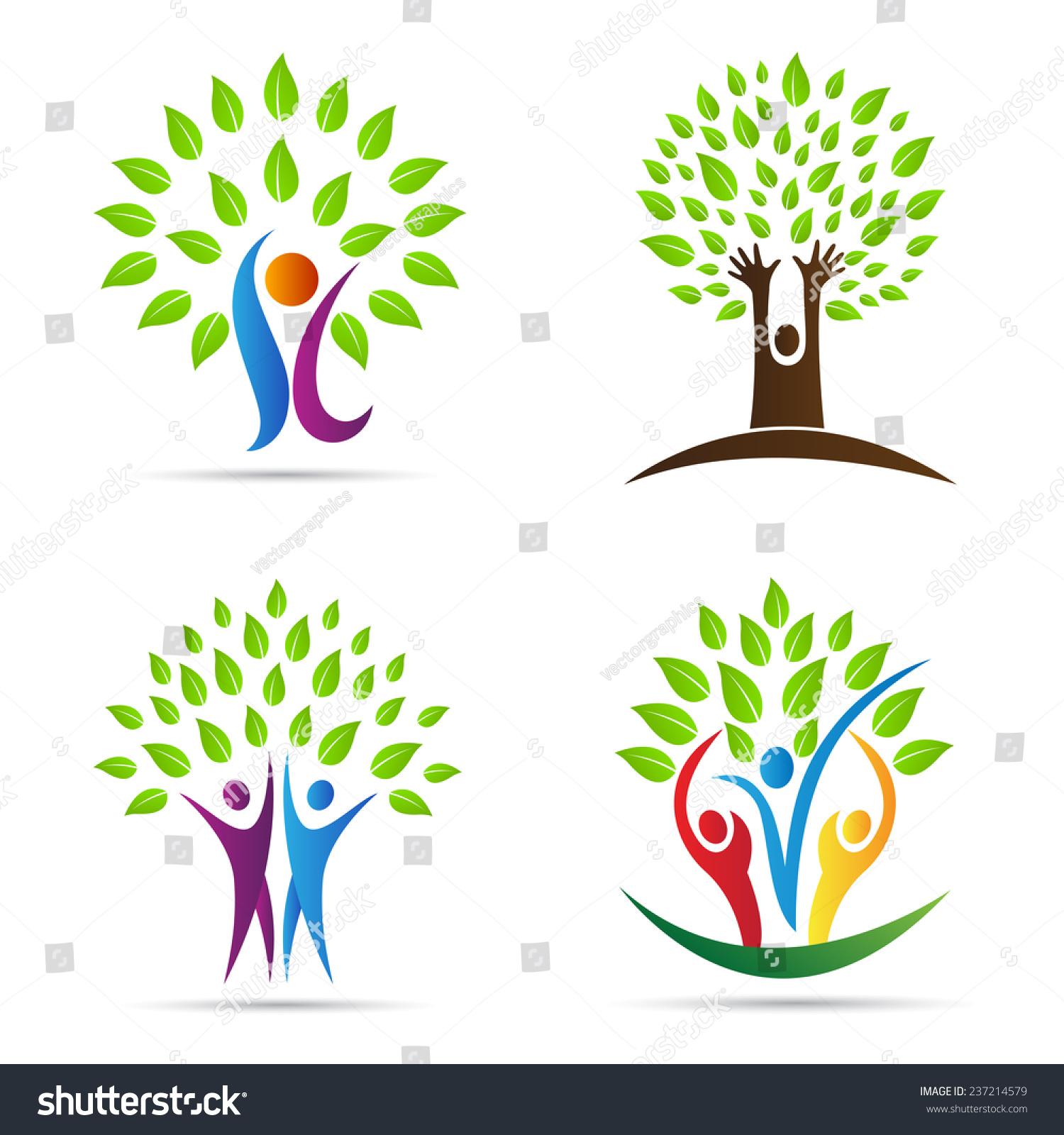 Abstract Tree Vector Design Represents Eco Stock Vector 237214579 ...