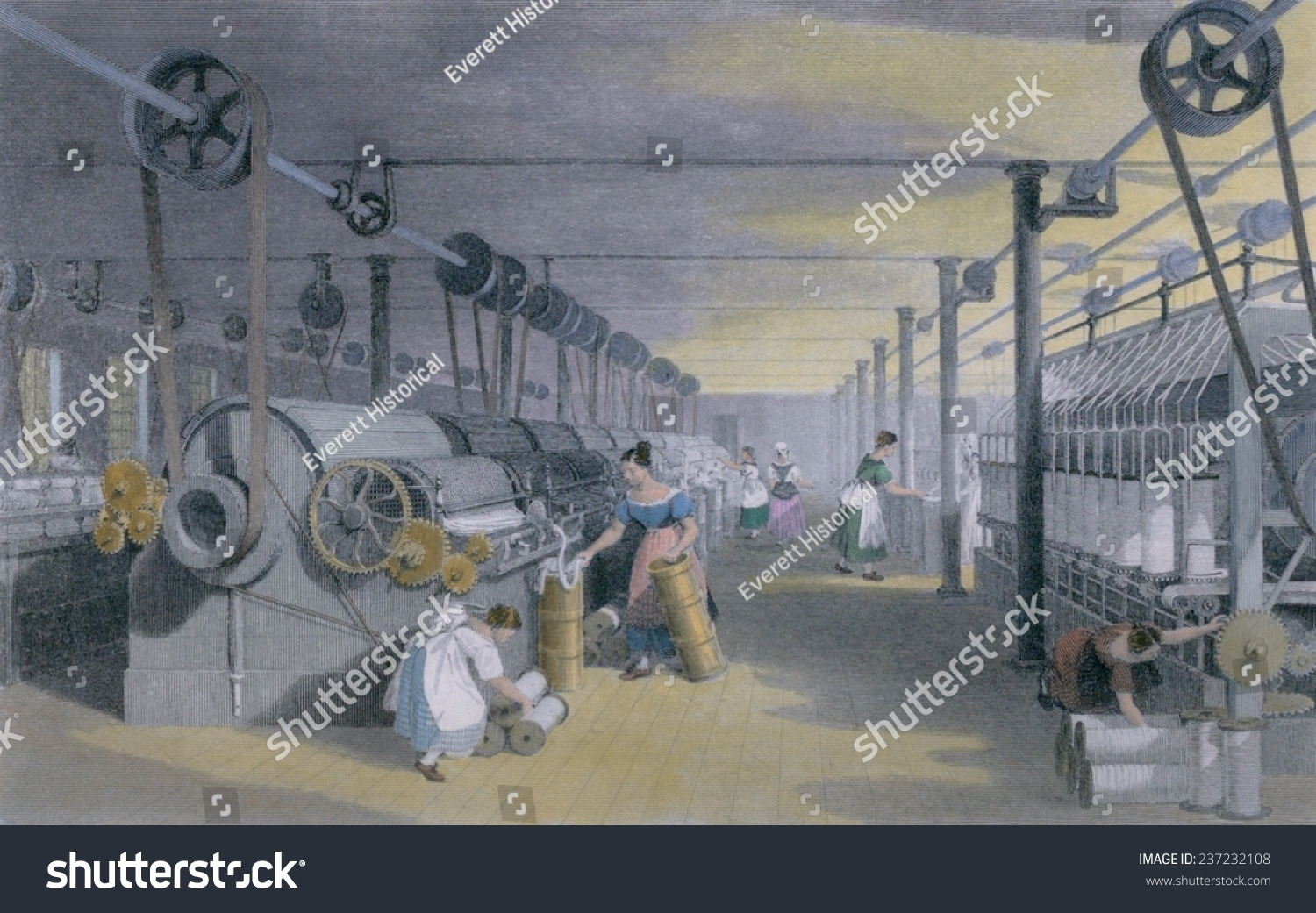 making cotton with a machine