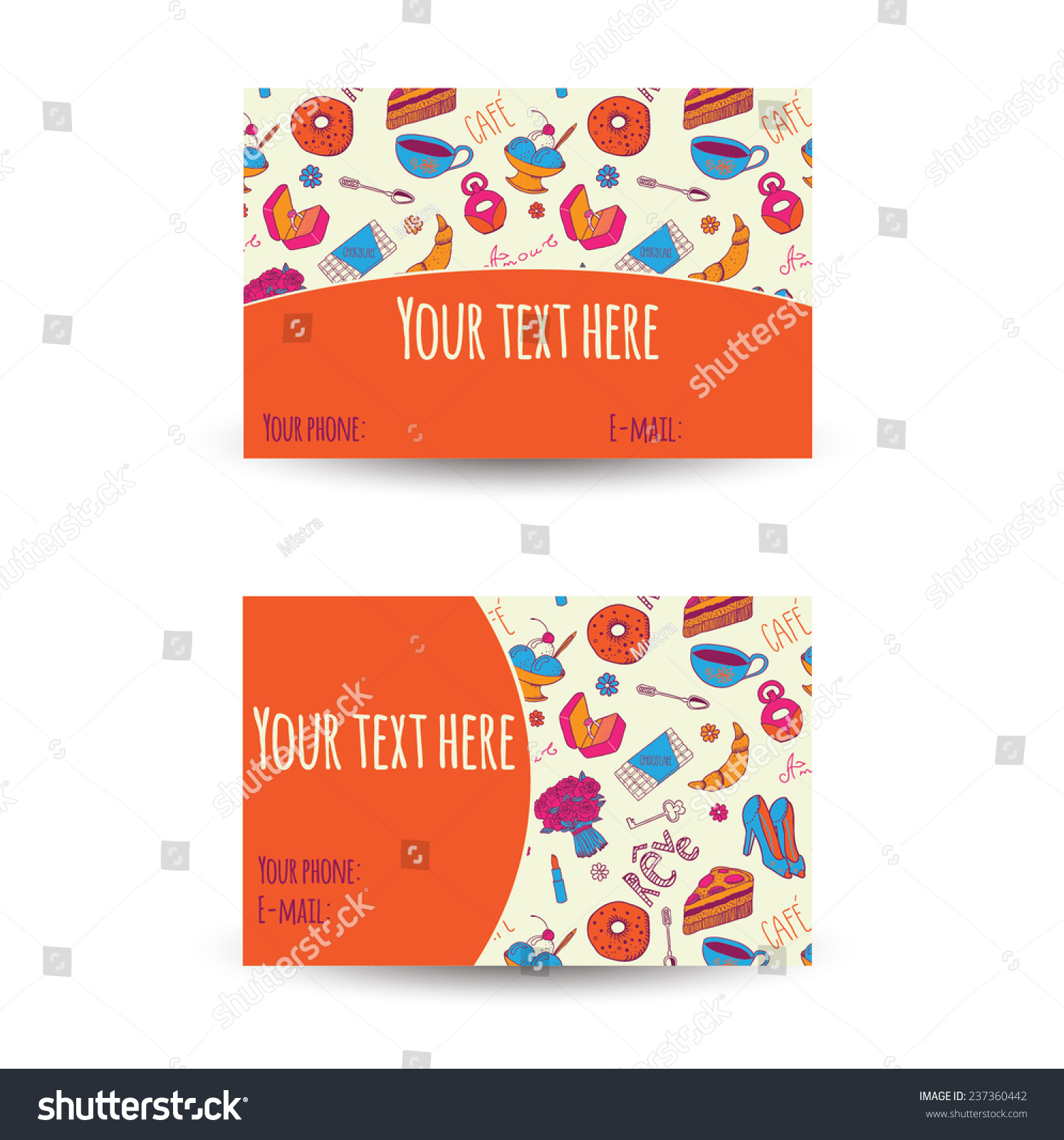 Business Card Design Words French Dream Stock Vector 237360442 ...