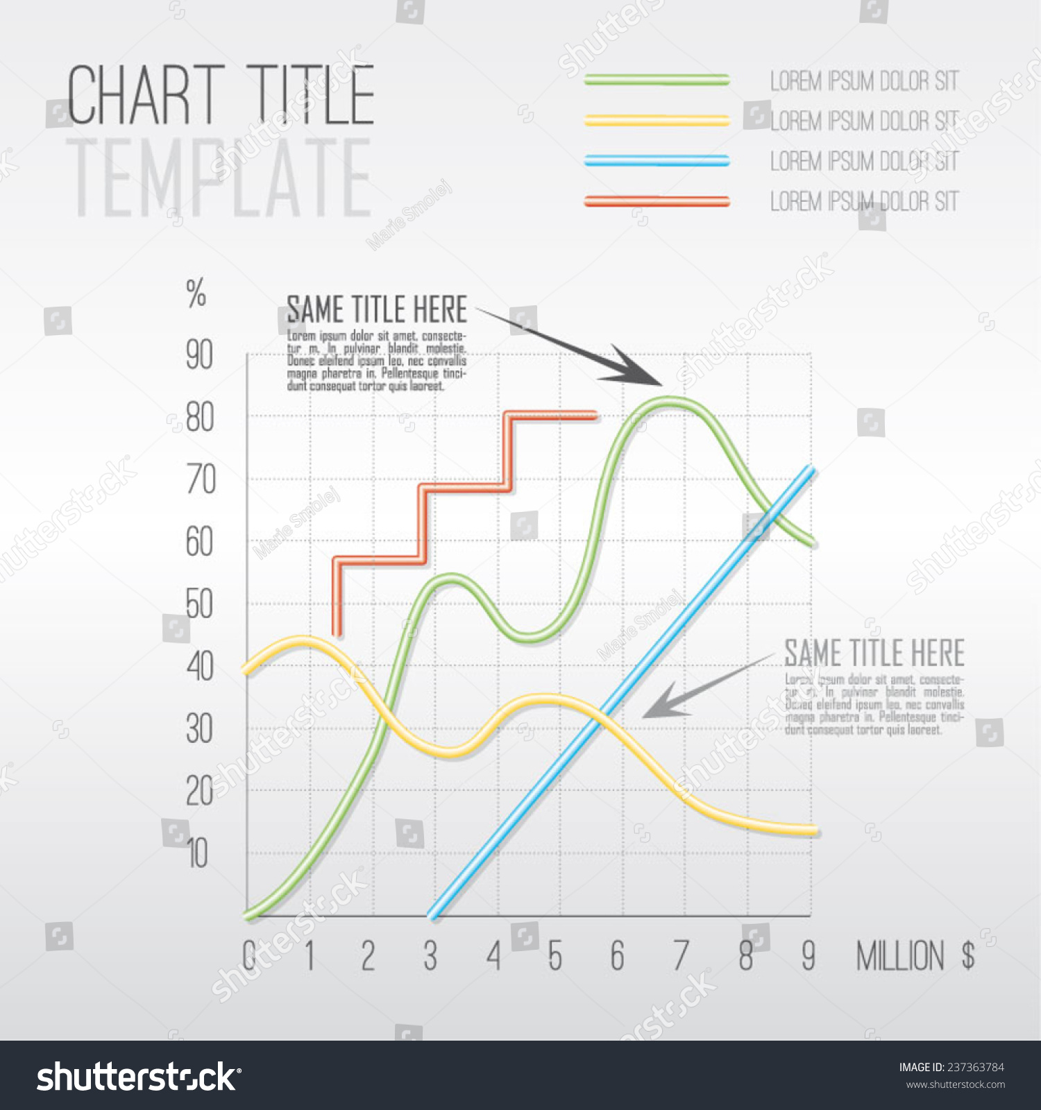 Vector modern simple chart up down stock vector 237363784 vector modern simple chart up down zig zag line graph template pronofoot35fo Image collections