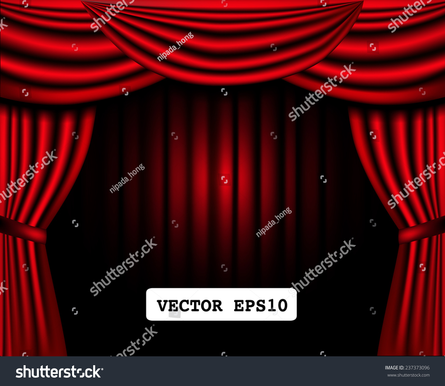 Classic Curtain On Theater Stage Frame Stock Vector (Royalty Free ...