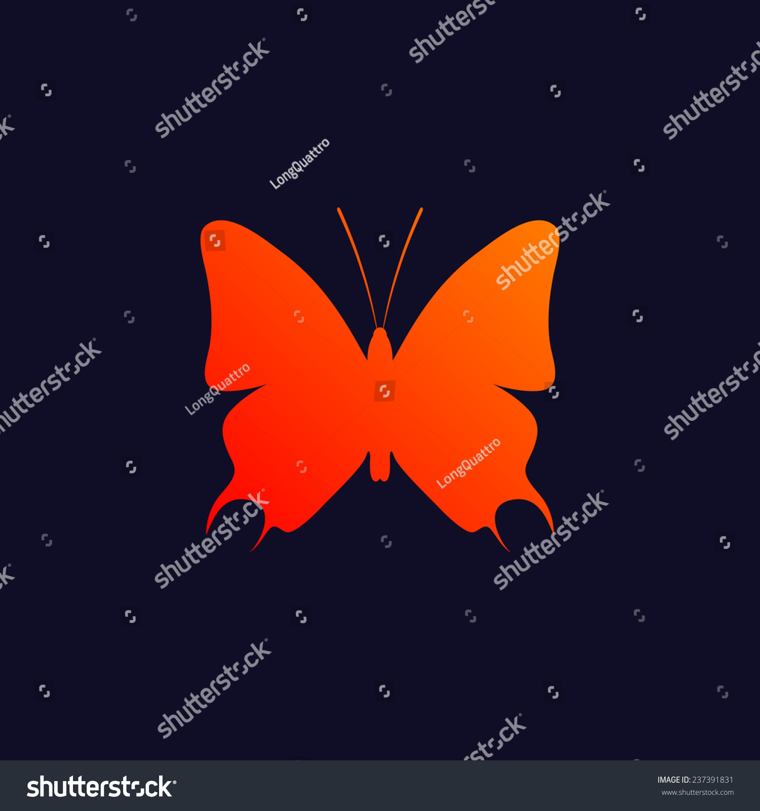 Orange butterfly symbol isolated on blue stock vector 237391831 orange butterfly symbol isolated on blue background eps10 biocorpaavc Images