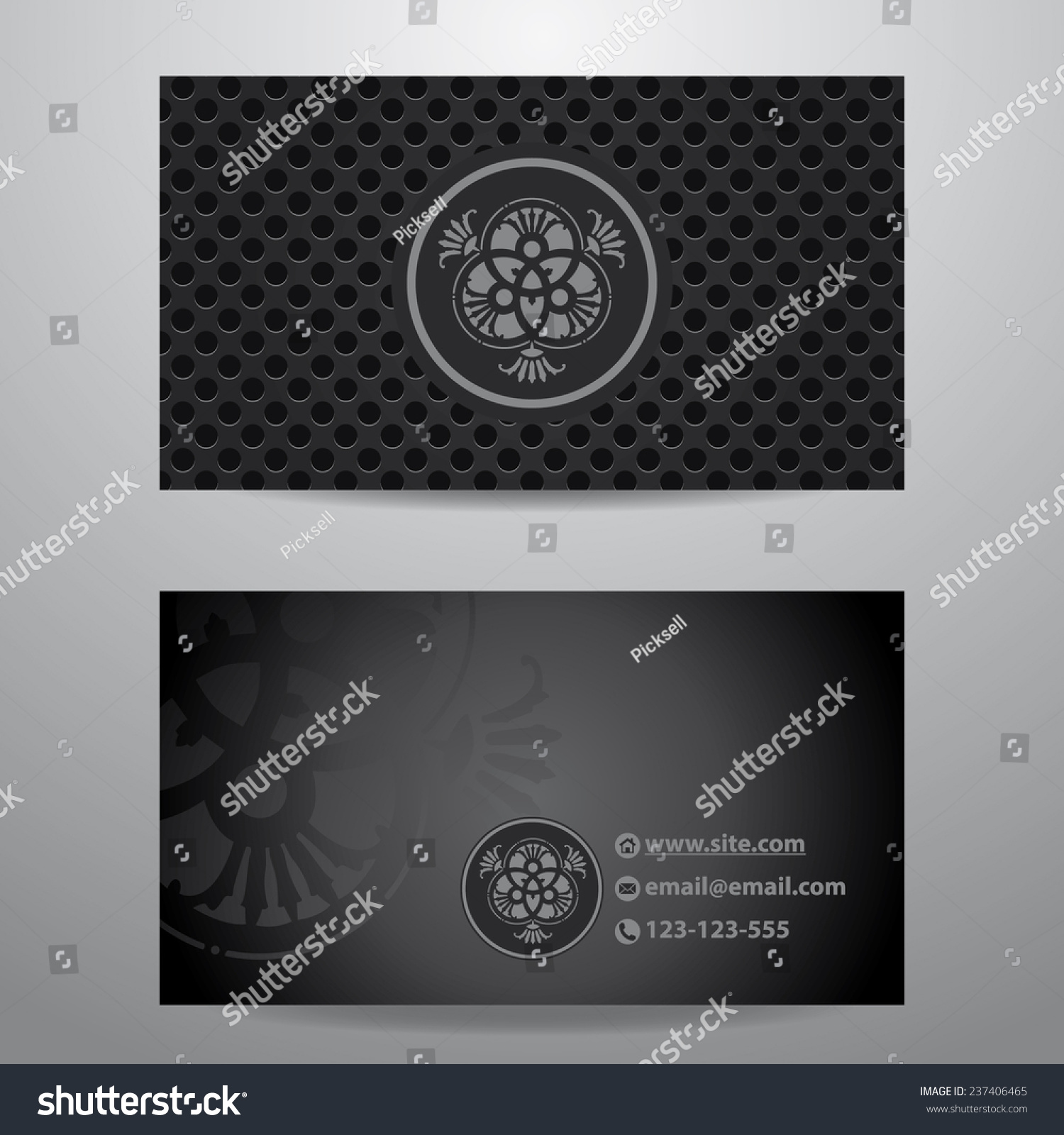 Dark Carbon Fiber Business Card Template Stock Vector 237406465 ...