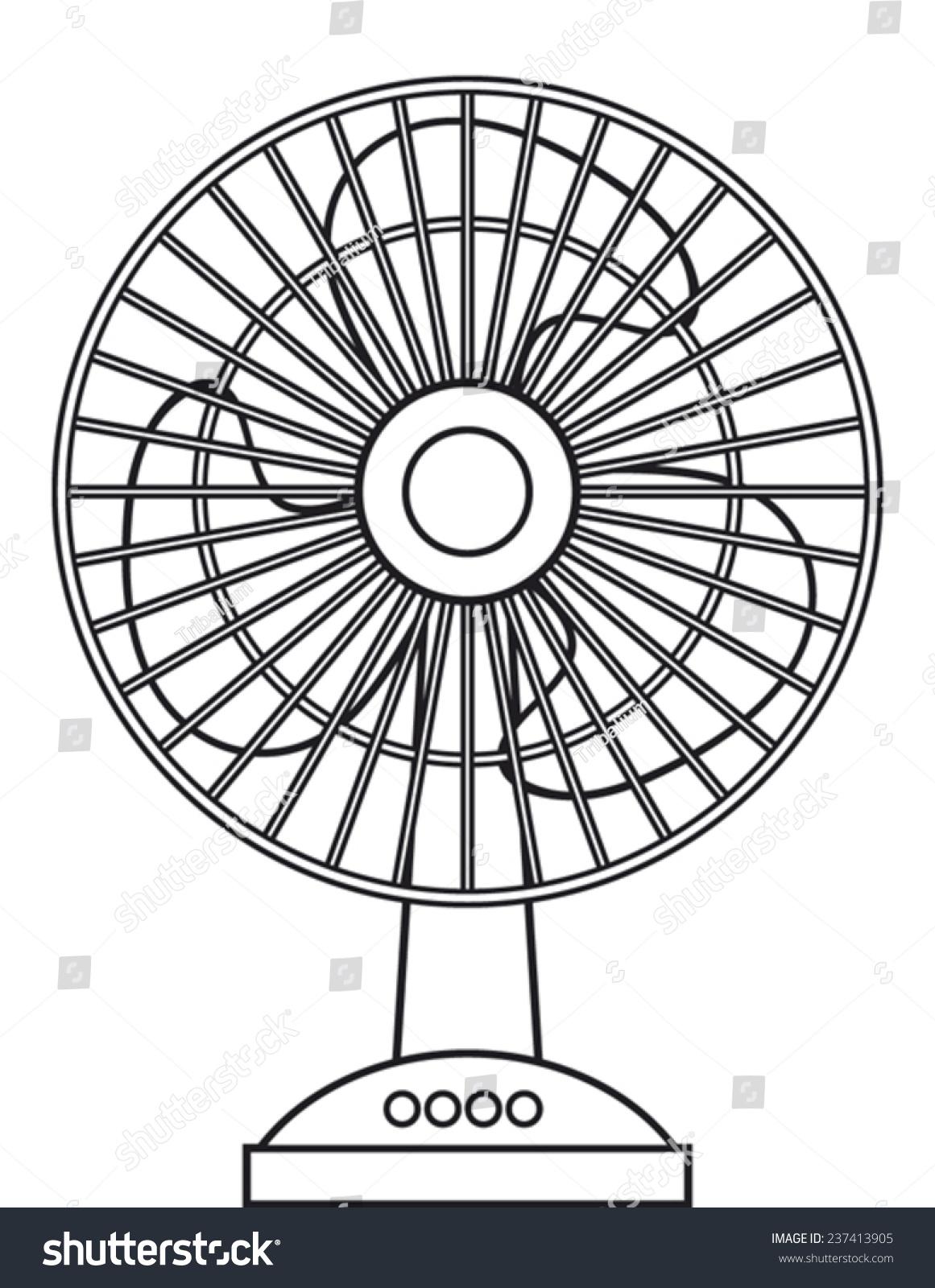 Cooling Fan Clip Art : Table fan stock vector shutterstock