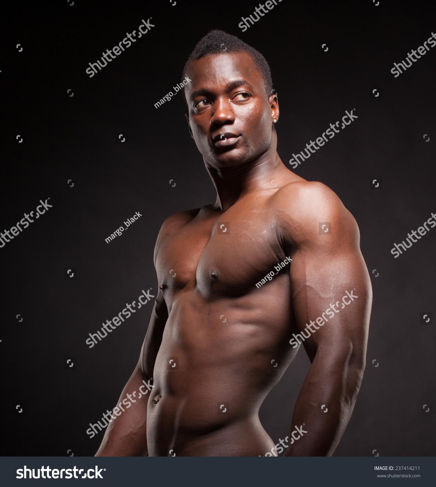 Beautiful muscular black man dark background stock photo edit now jpg  1434x1600 Dark black muscle 9b45b3820