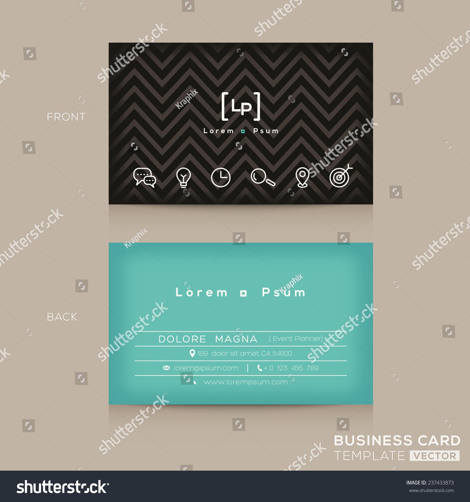 Modern trendy business card design template stock vector 237433873 modern trendy business card design template magicingreecefo Choice Image