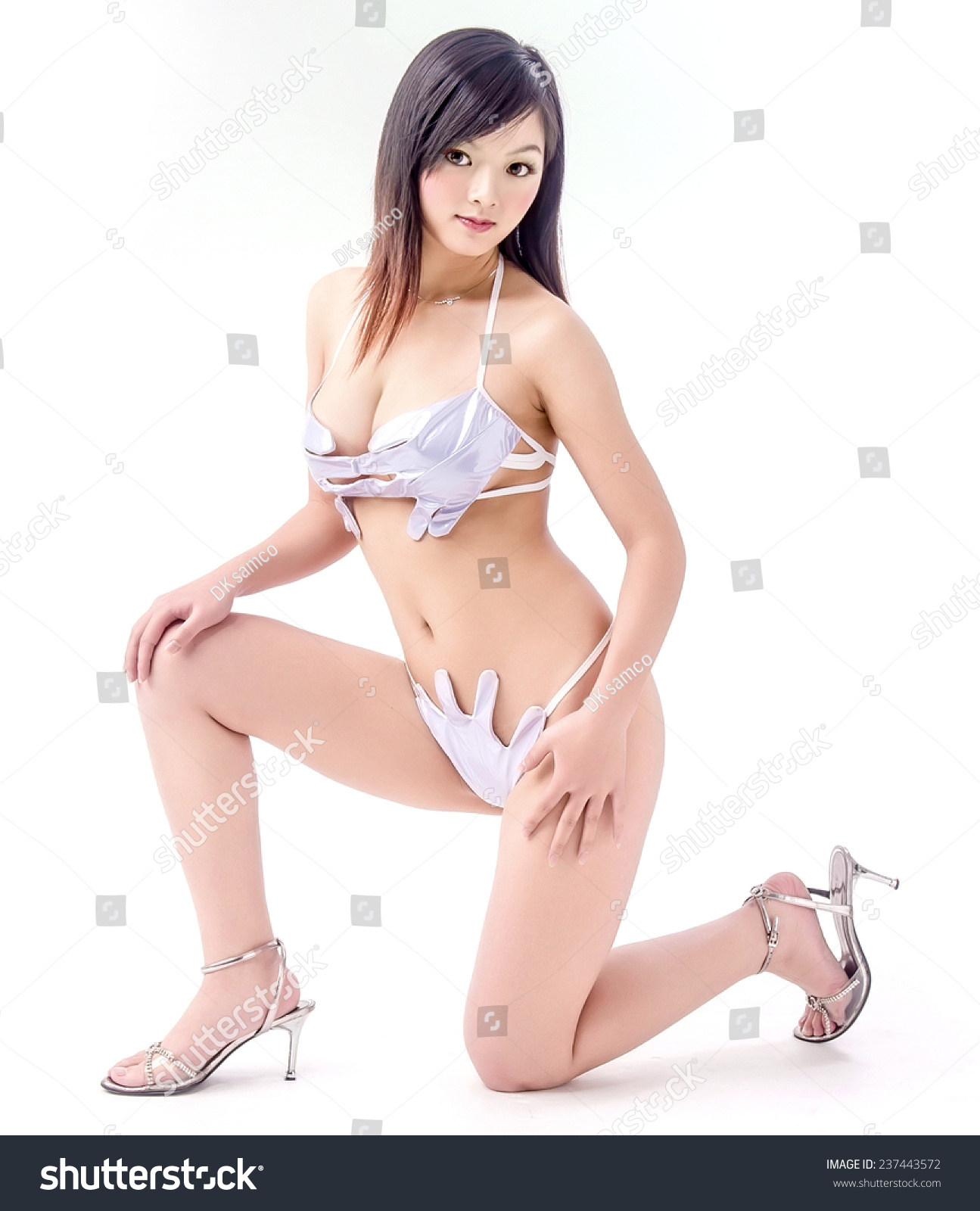 Think asian model lingere your