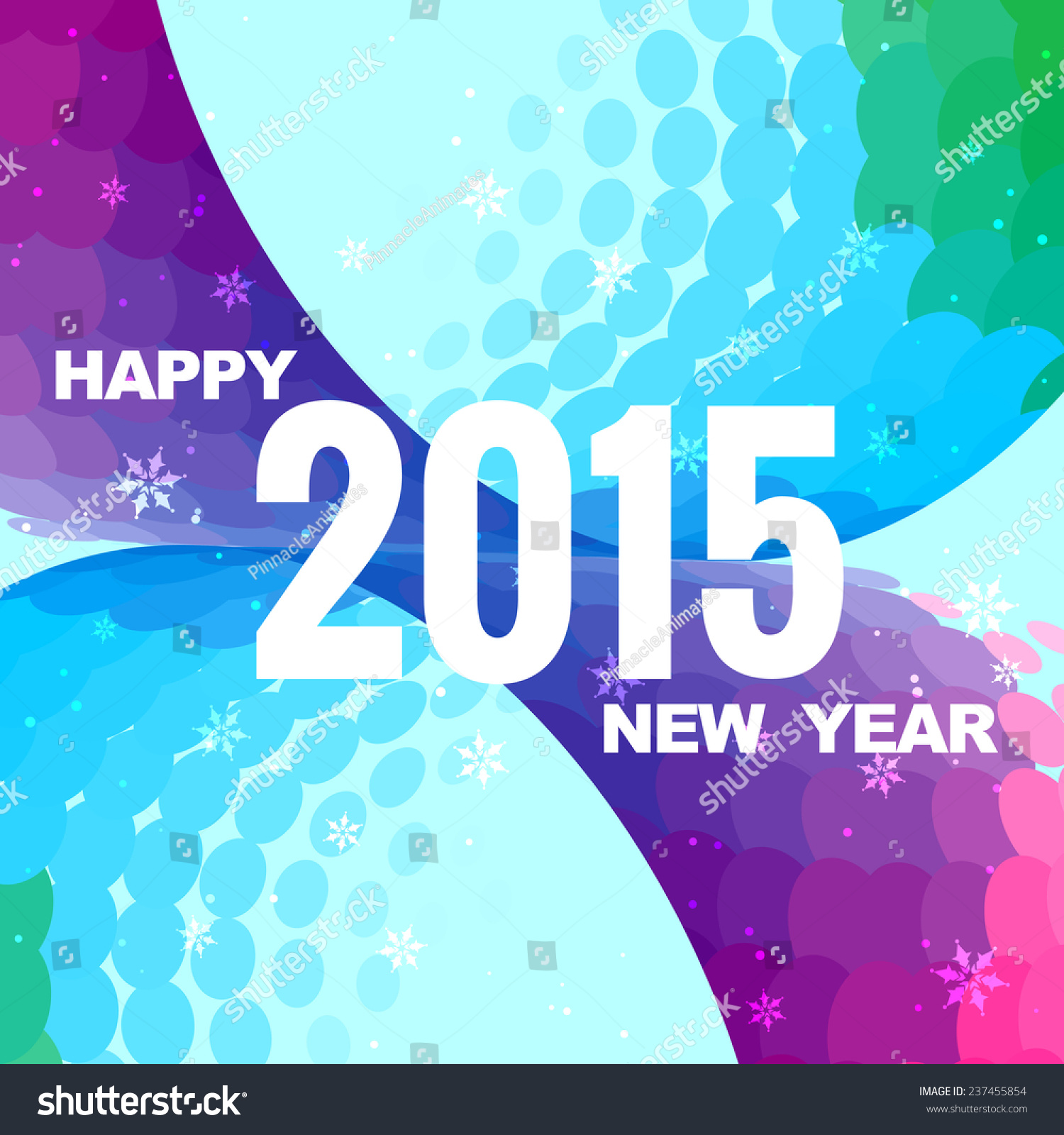 happy new year wishes with beautiful purple and blue background