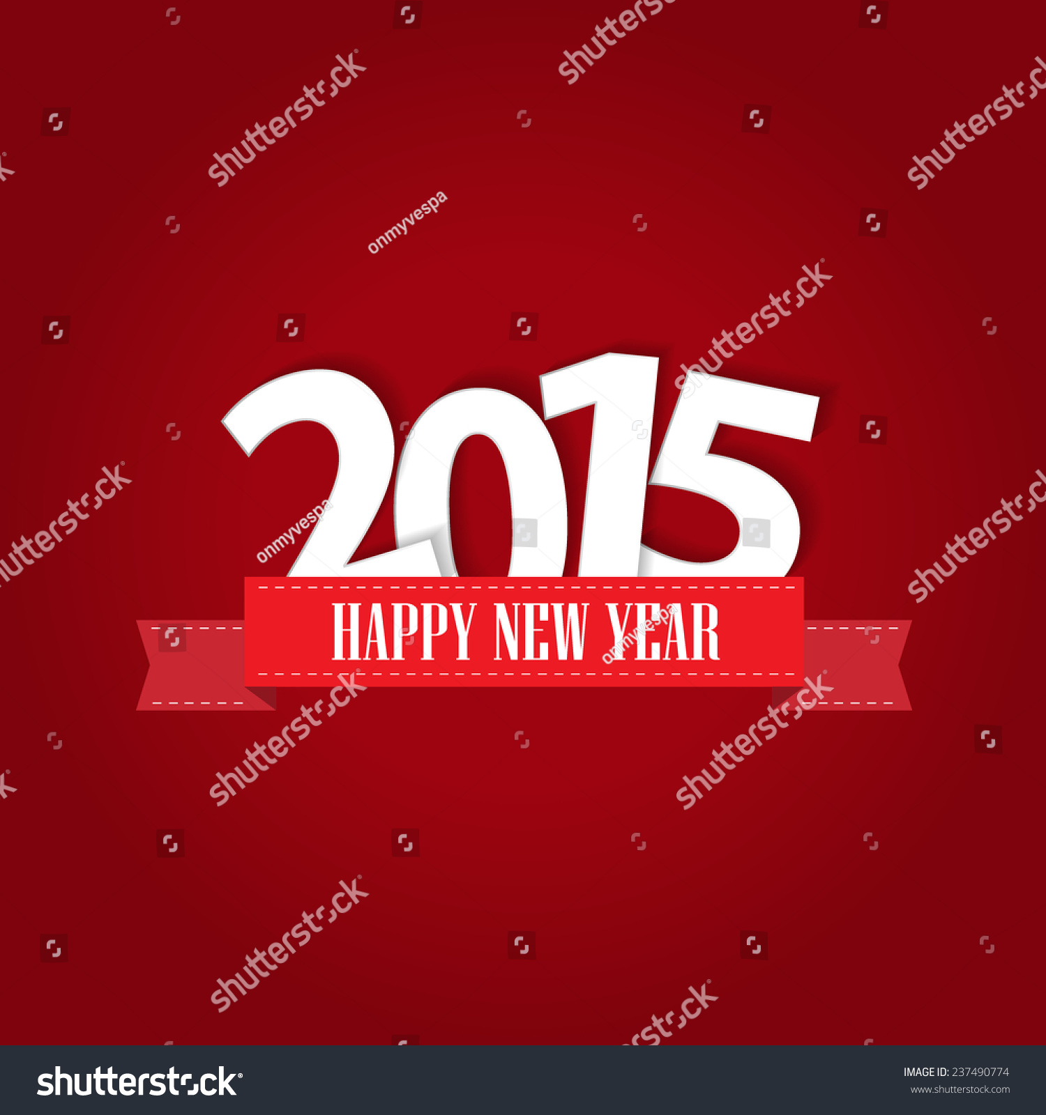 Happy New Year 2015 Greeting Card Stock Vector 237490774 Shutterstock