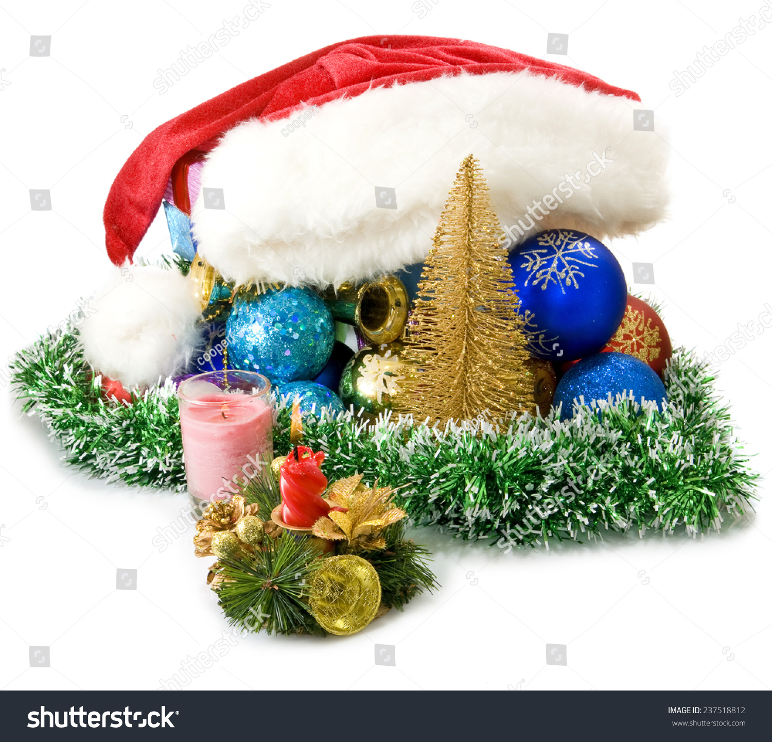 isolated image of different christmas decorations - Different Christmas Decorations