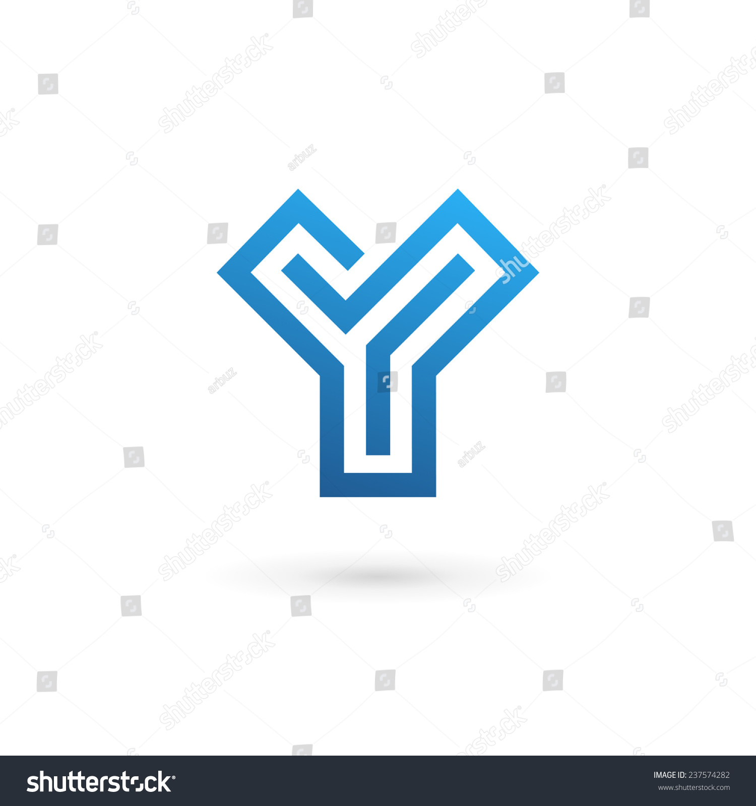 Letter Y Logo Icon Design Template Stock Vector 237574282 ... Y Logo