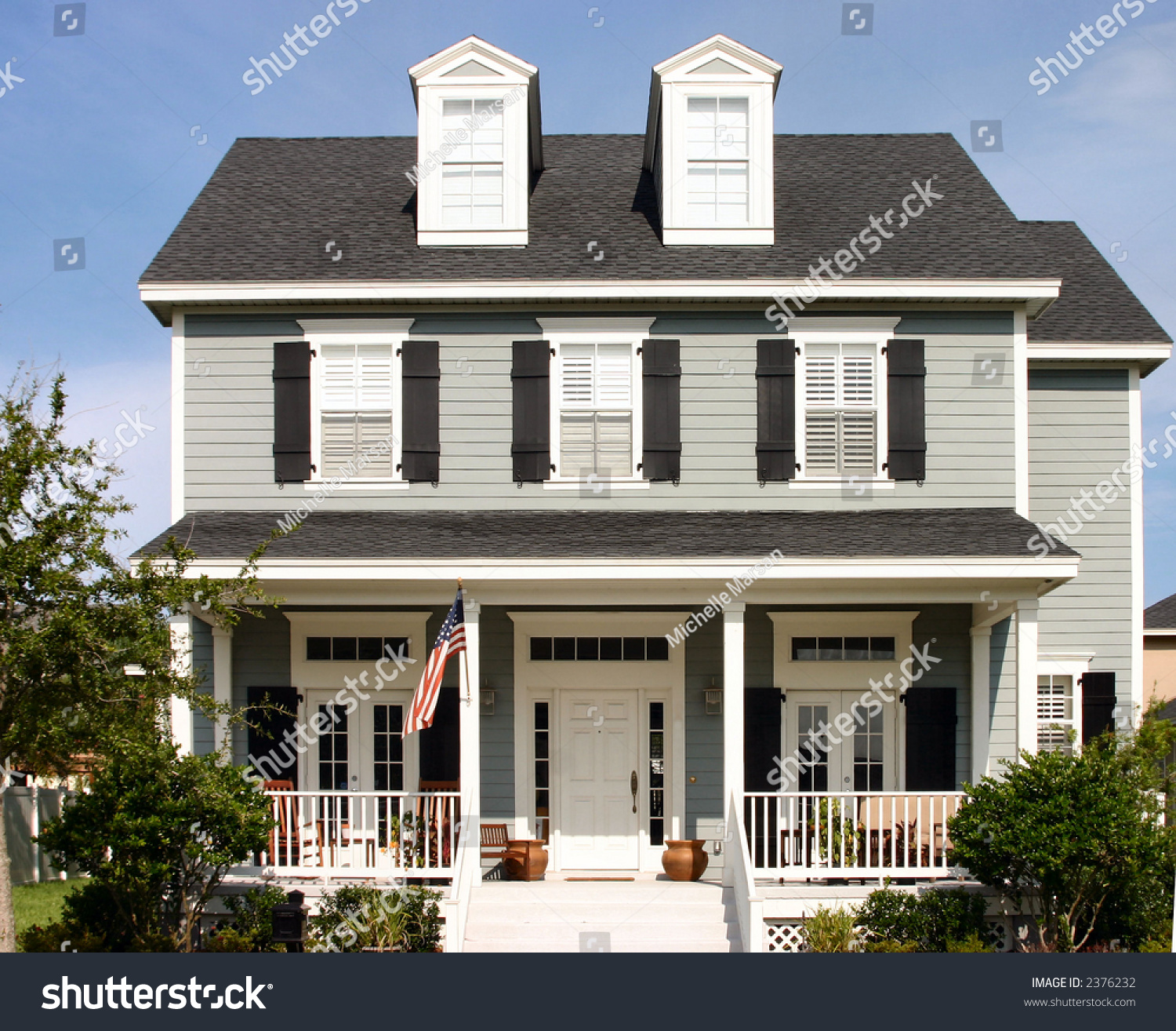 American Dream Home Stock Photo 2376232 Shutterstock