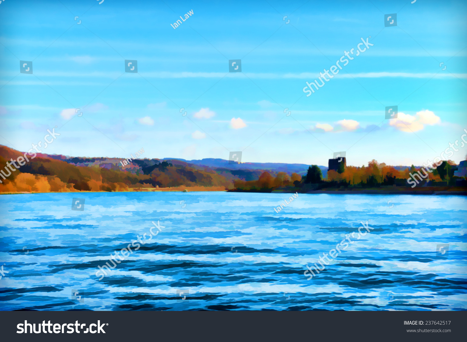 Beautiful painting of a landscape stock photo 237642517 for Find a landscaper
