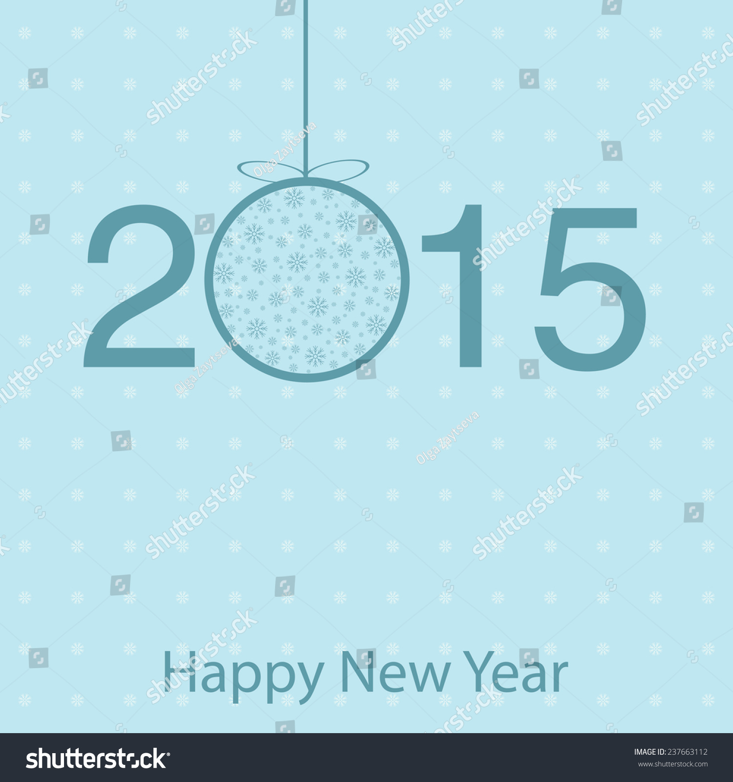 Template Greeting Cards 2015 New Year Stock Vector 237663112