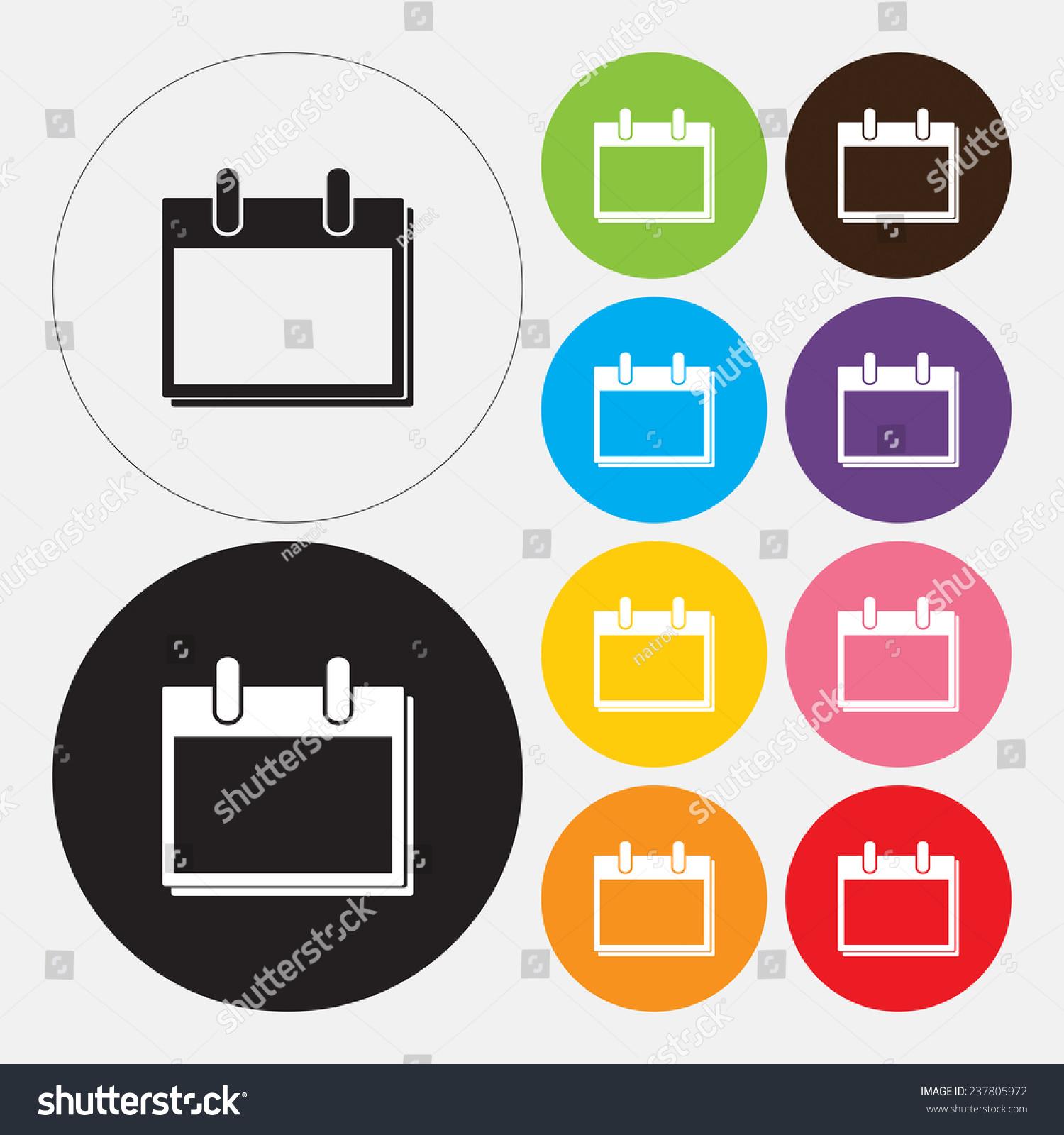 Calendar Icon Vector Stock Vector 237805972 - Shutterstock