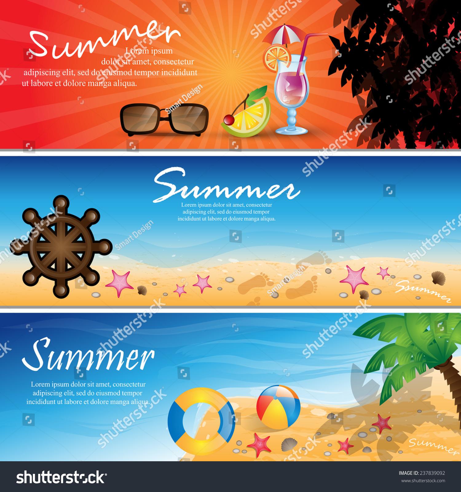 Summer Flyer Template   Vector Illustration, Graphic Design, Editable For  Your Design
