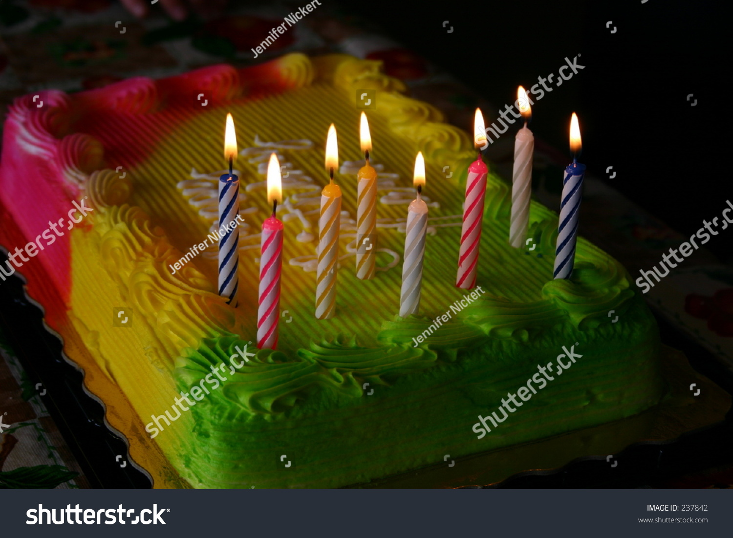 Pleasing Bright Neon Birthday Cake Candles Stock Photo Edit Now 237842 Funny Birthday Cards Online Alyptdamsfinfo