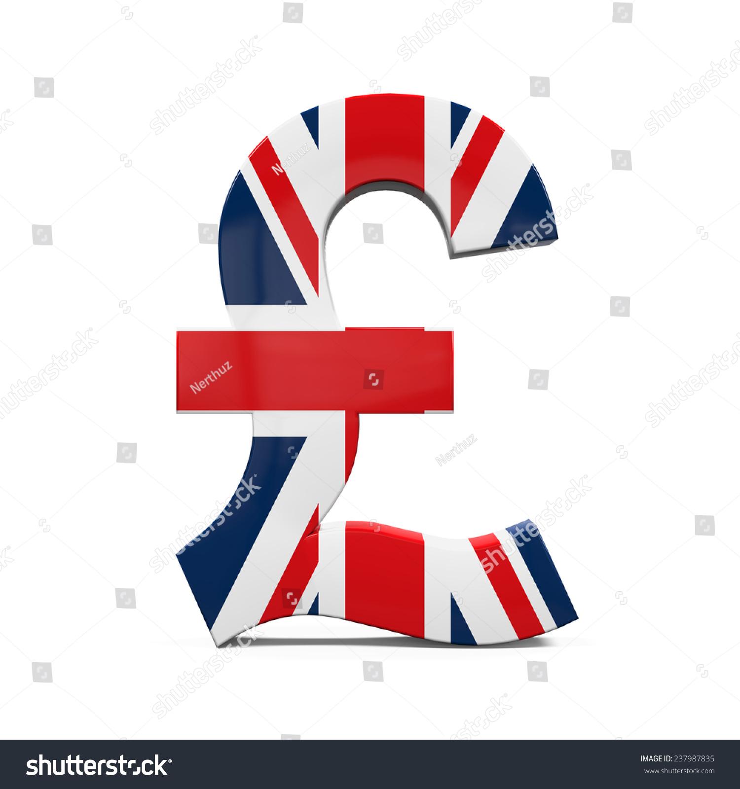 Pound Symbol Flag Stock Illustration 237987835 Shutterstock