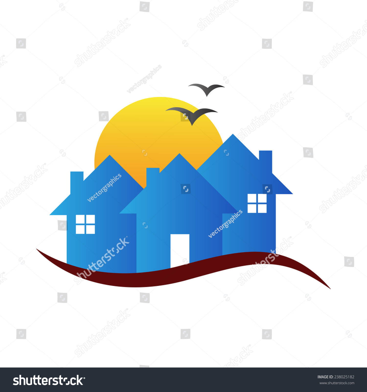 House vector design represents real estate stock vector 238025182 house vector design represents real estate logo construction signs and symbols biocorpaavc Image collections