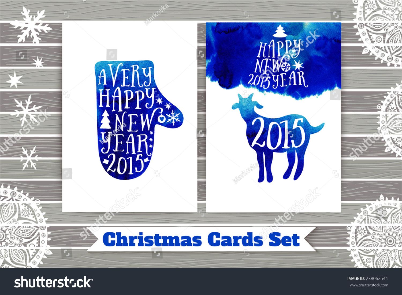 Symbol 2015 Year Greeting Card Goat Stock Vector Hd Royalty Free