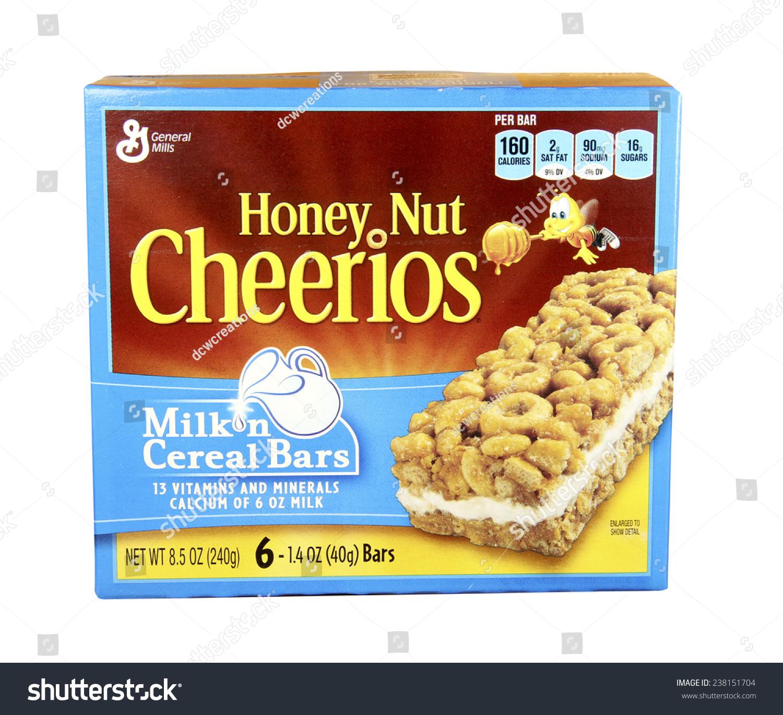 Spencer Wisconsin Dec162014 Box Honey Nut Stock Photo