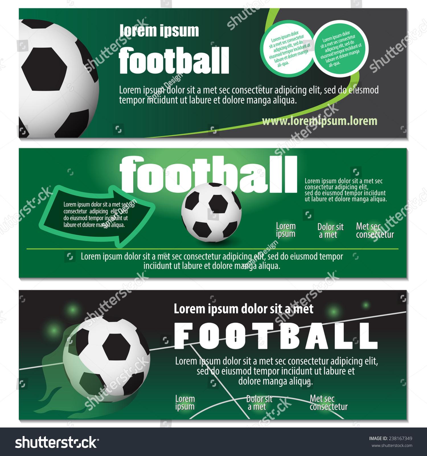 Football Flyer Template Vector Illustration Graphic Stock Vector 238167349 - Shutterstock
