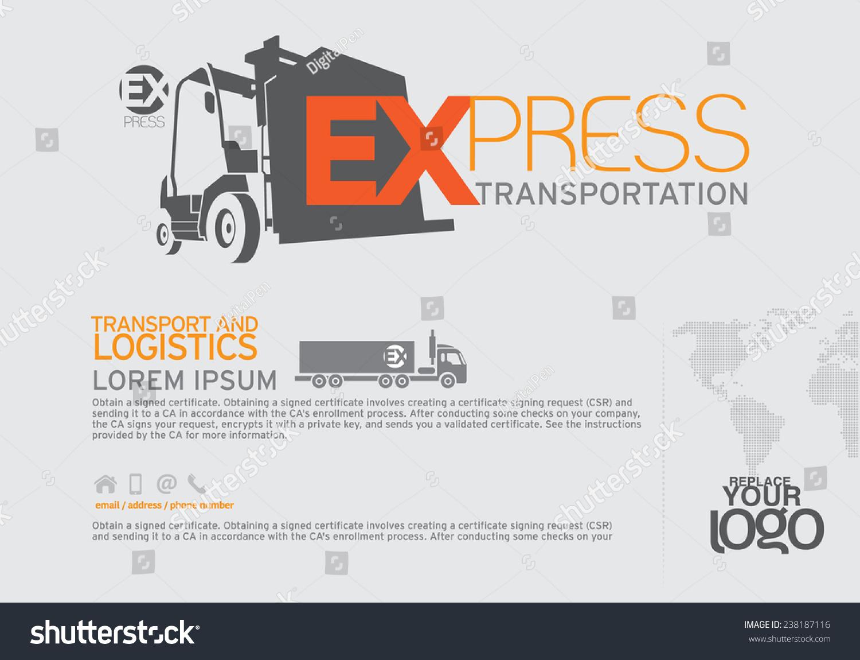 Transportation Brochure Leaflet Design Template Stock-vektorgrafik ...