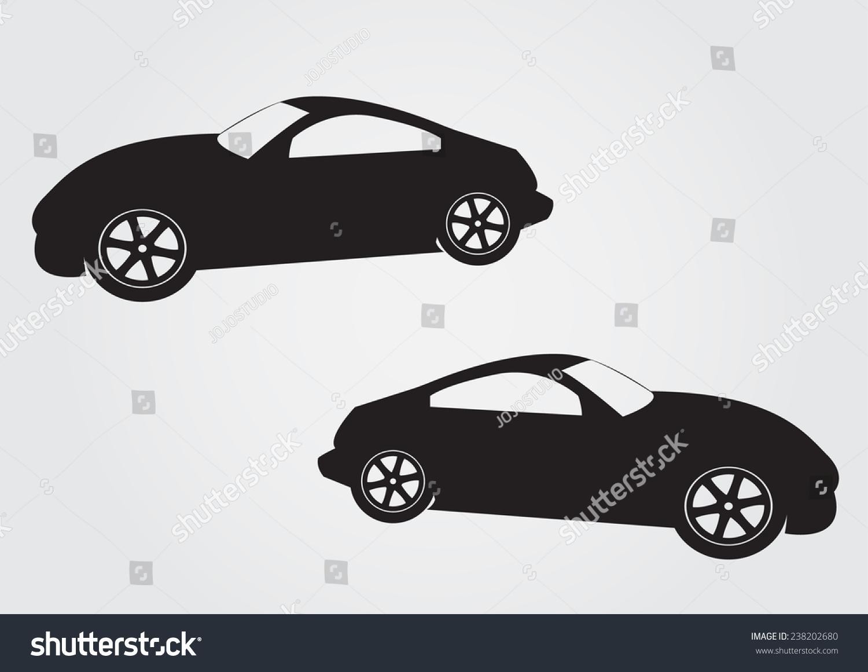 Sports Car Vector Symbol Ez Canvas