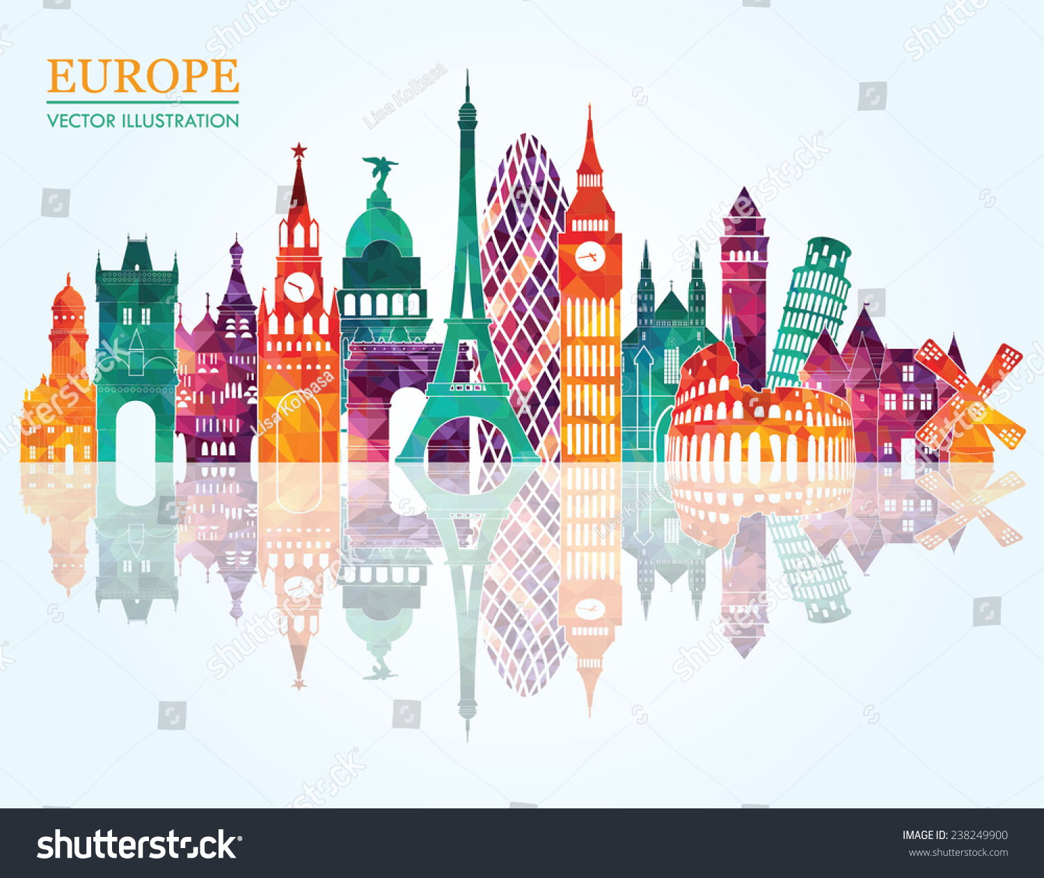 Country Music City Stock Photos Country Music City Stock: Europe Skyline Detailed Silhouette Vector Illustration