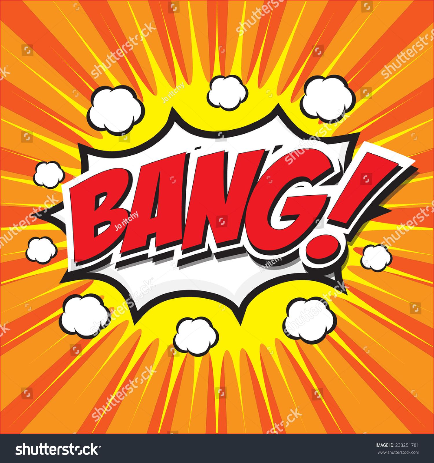 Bang! Wording Sound Effect Set Design For Comic Background ...
