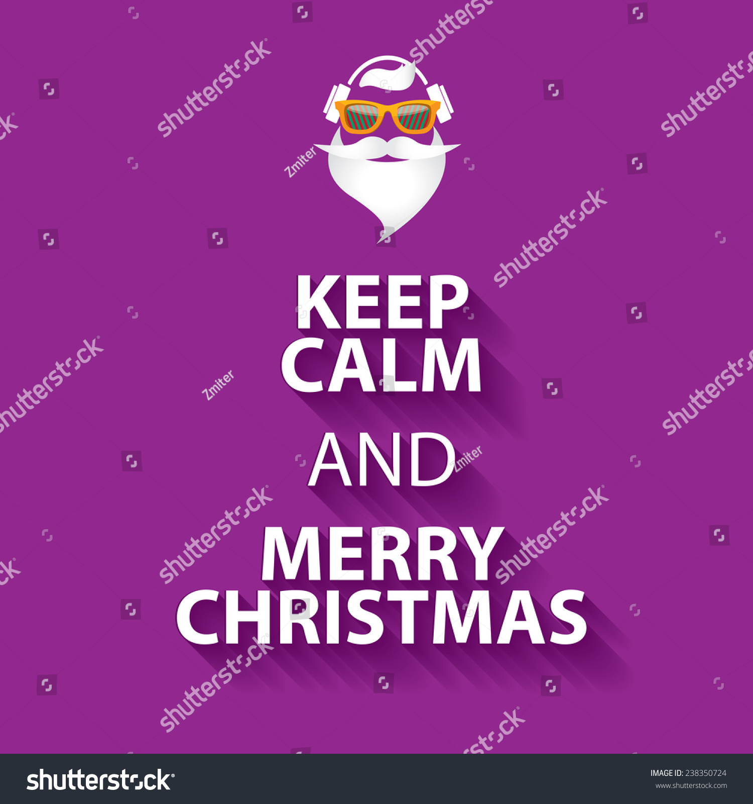 Keep Calm Merry Christmas Design Poster Stock Vector 238350724 ...